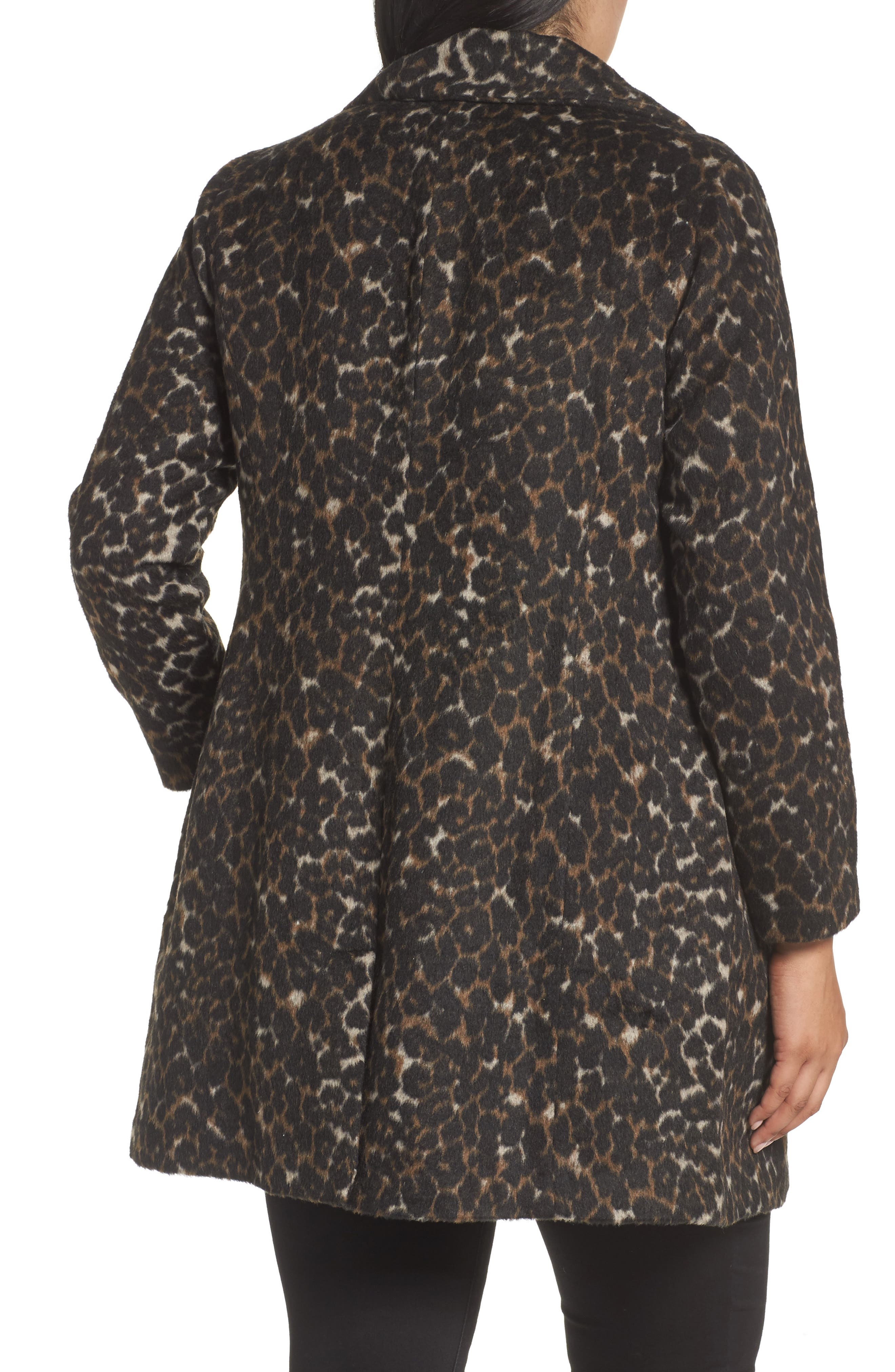 Alternate Image 2  - Sejour Leopard Print Jacket (Plus Size)