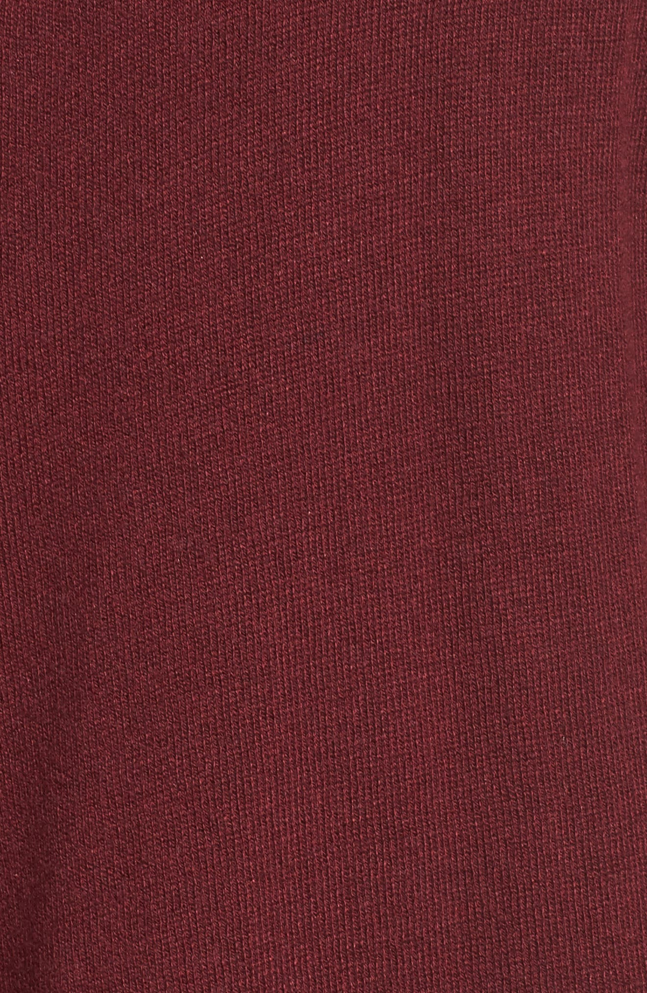 Cascade Open Front Cardigan,                             Alternate thumbnail 5, color,                             Red Tannin