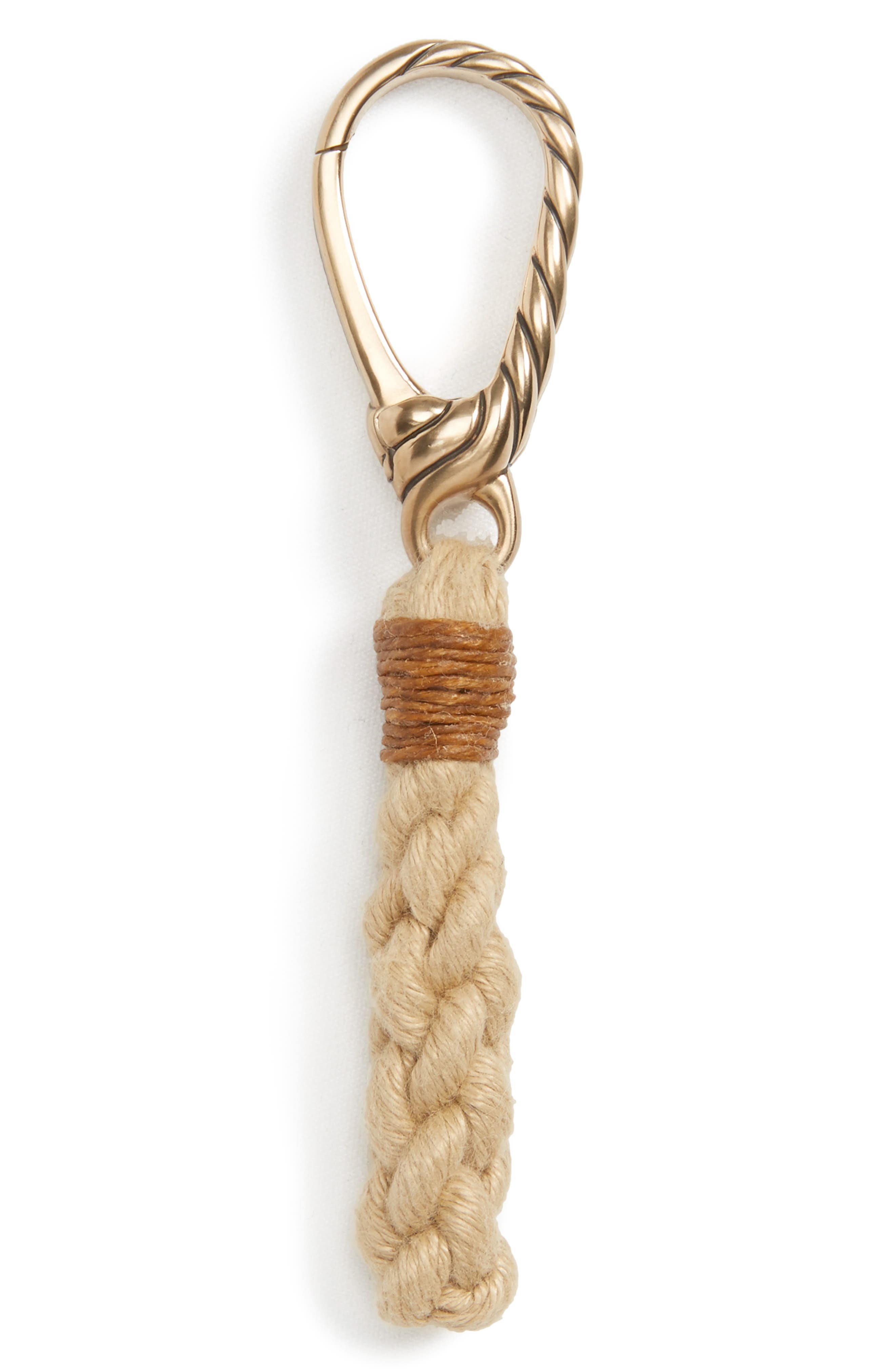 Maritime Rope Keychain,                             Main thumbnail 1, color,                             Bronze