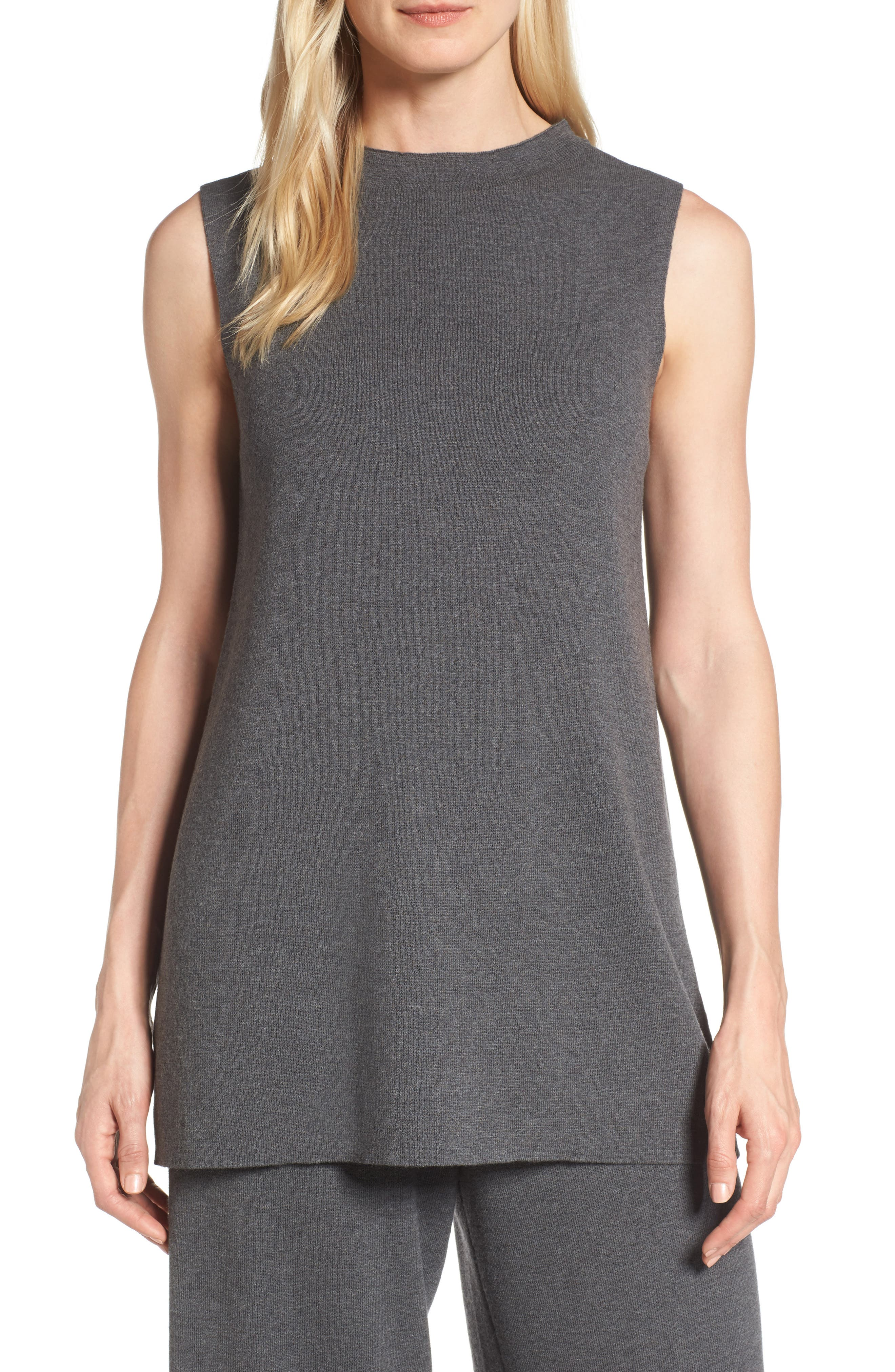 Eileen Fisher Wool Knit Tunic (Regular & Petite)