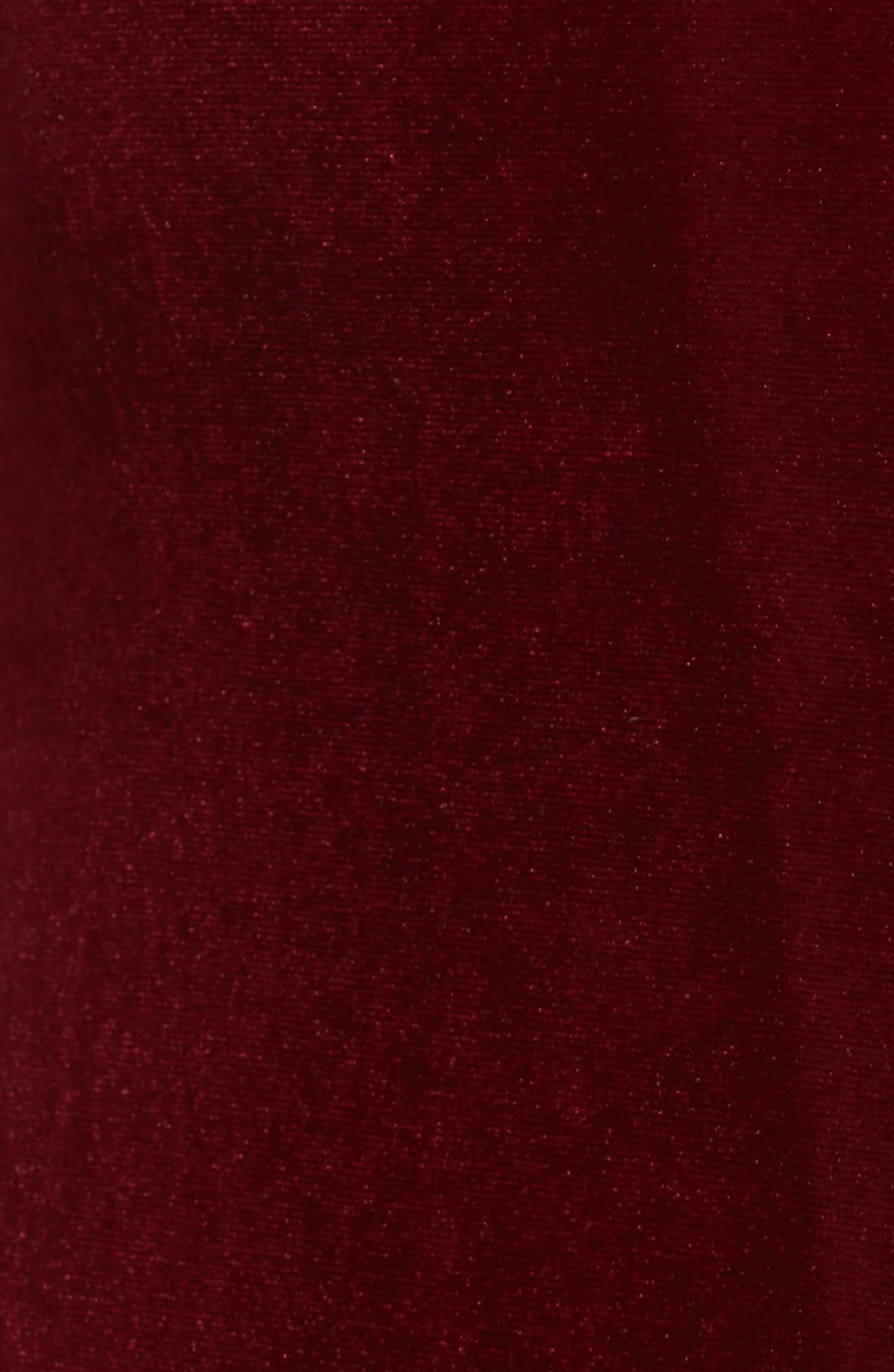 Besame Long Sleeve Velvet Maxi Dress,                             Alternate thumbnail 5, color,                             Burgundy