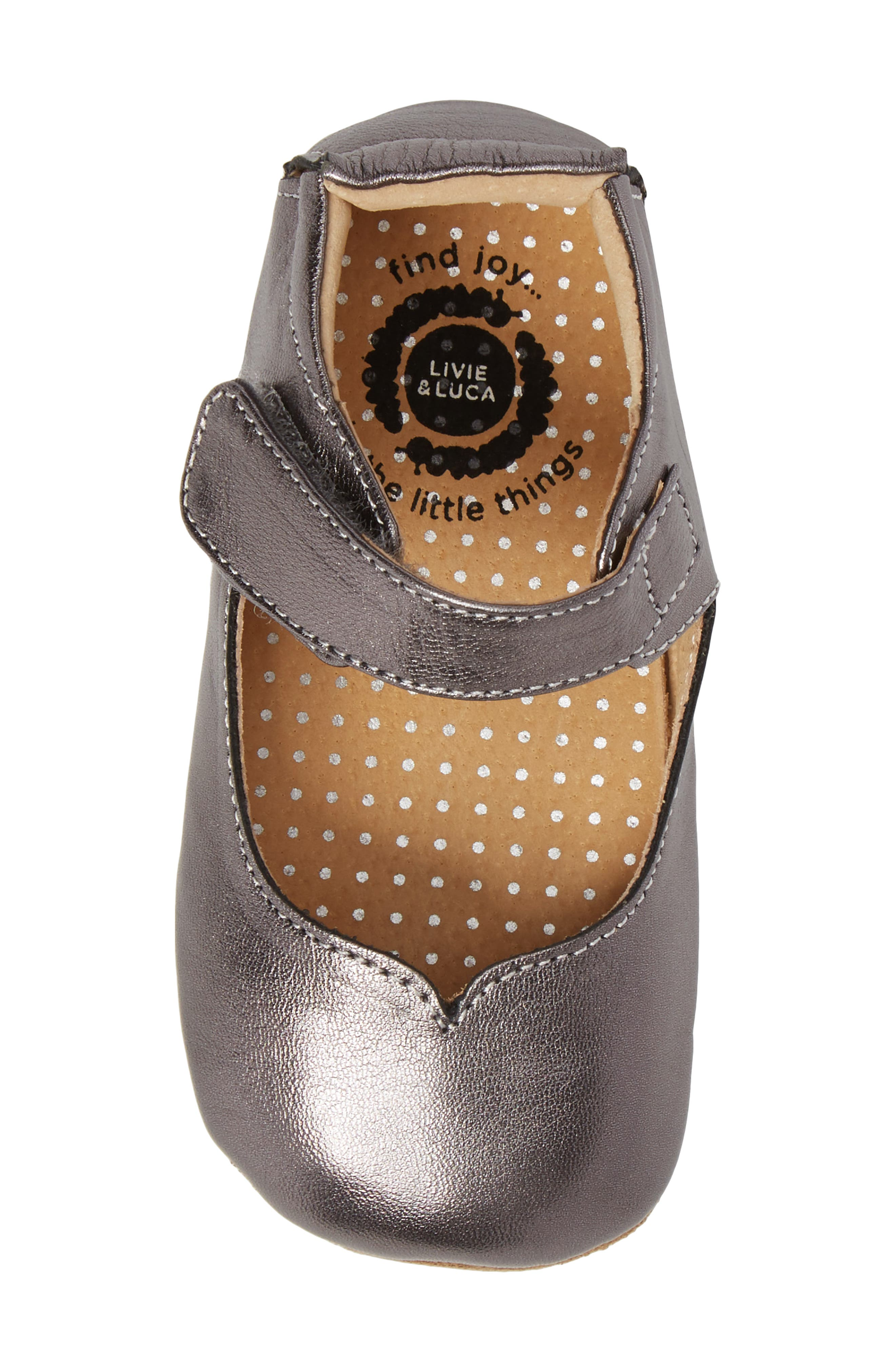 Astrid Mary Jane,                             Alternate thumbnail 5, color,                             Pewter Metallic Leather
