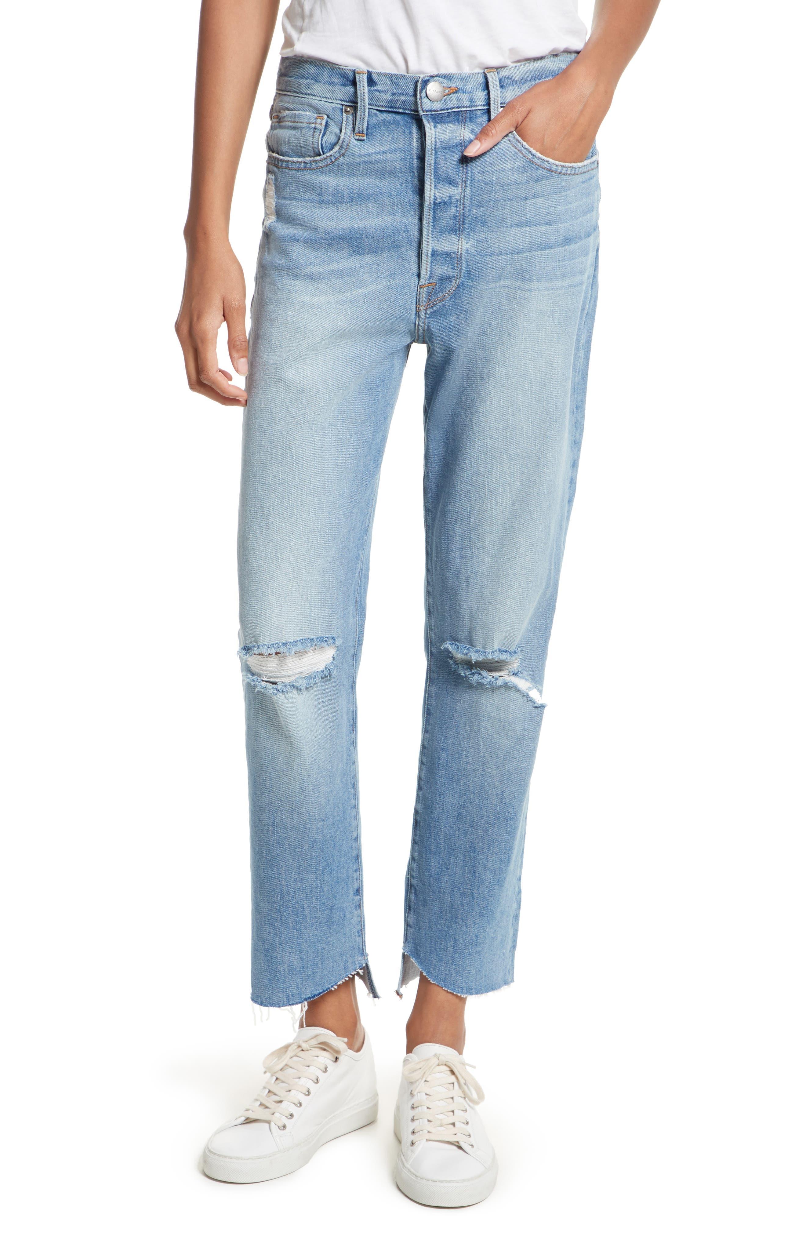 FRAME Le Original Step Hem High Waist Jeans (McLane)