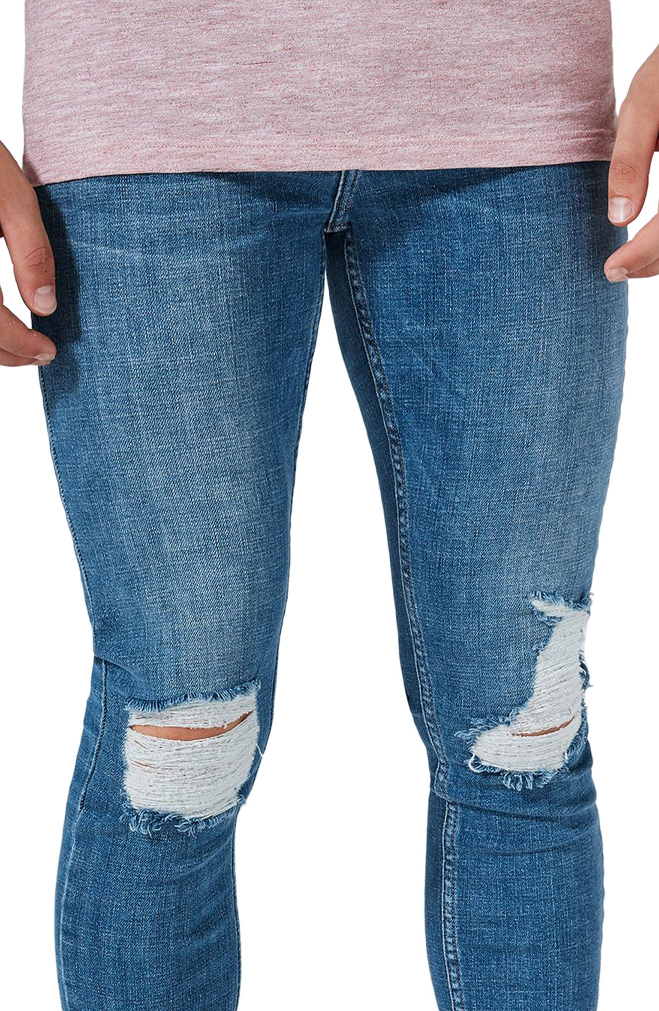 Alternate Image 3  - Topman Arthur Ripped Stretch Skinny Jeans