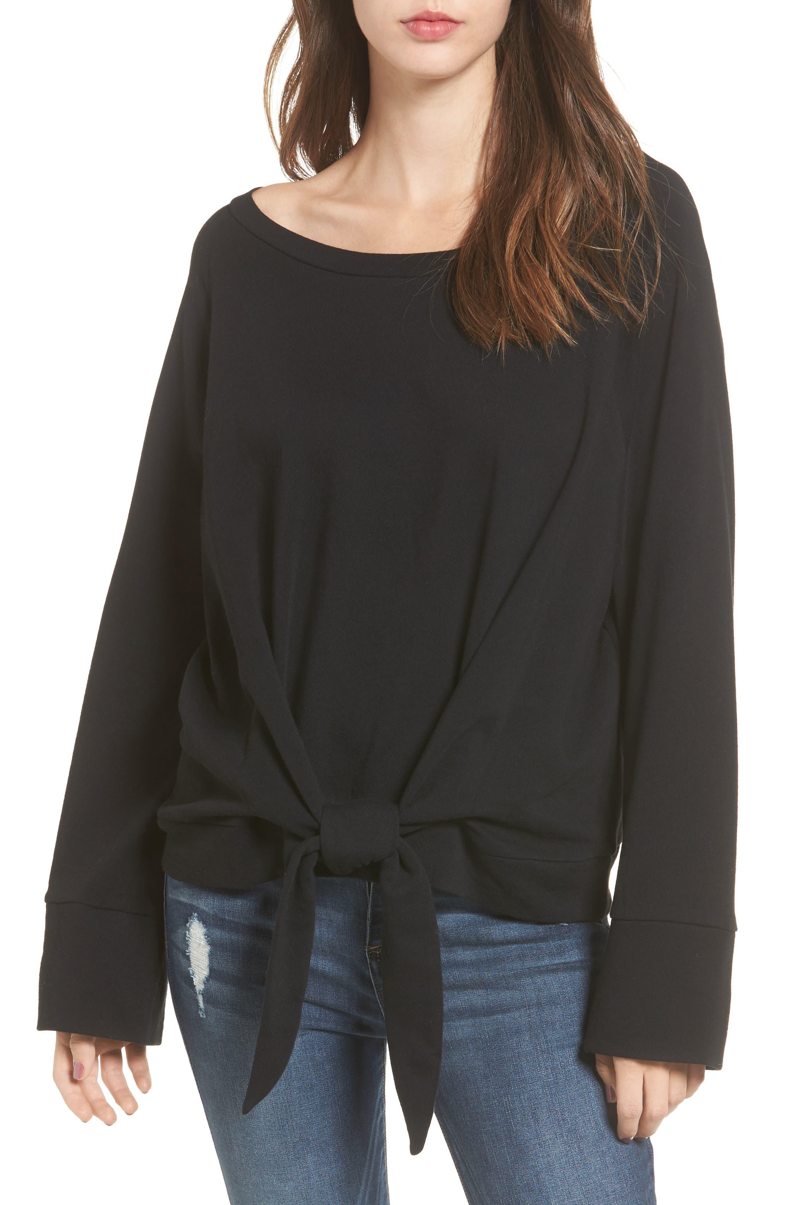 BP. Tie Front Pullover
