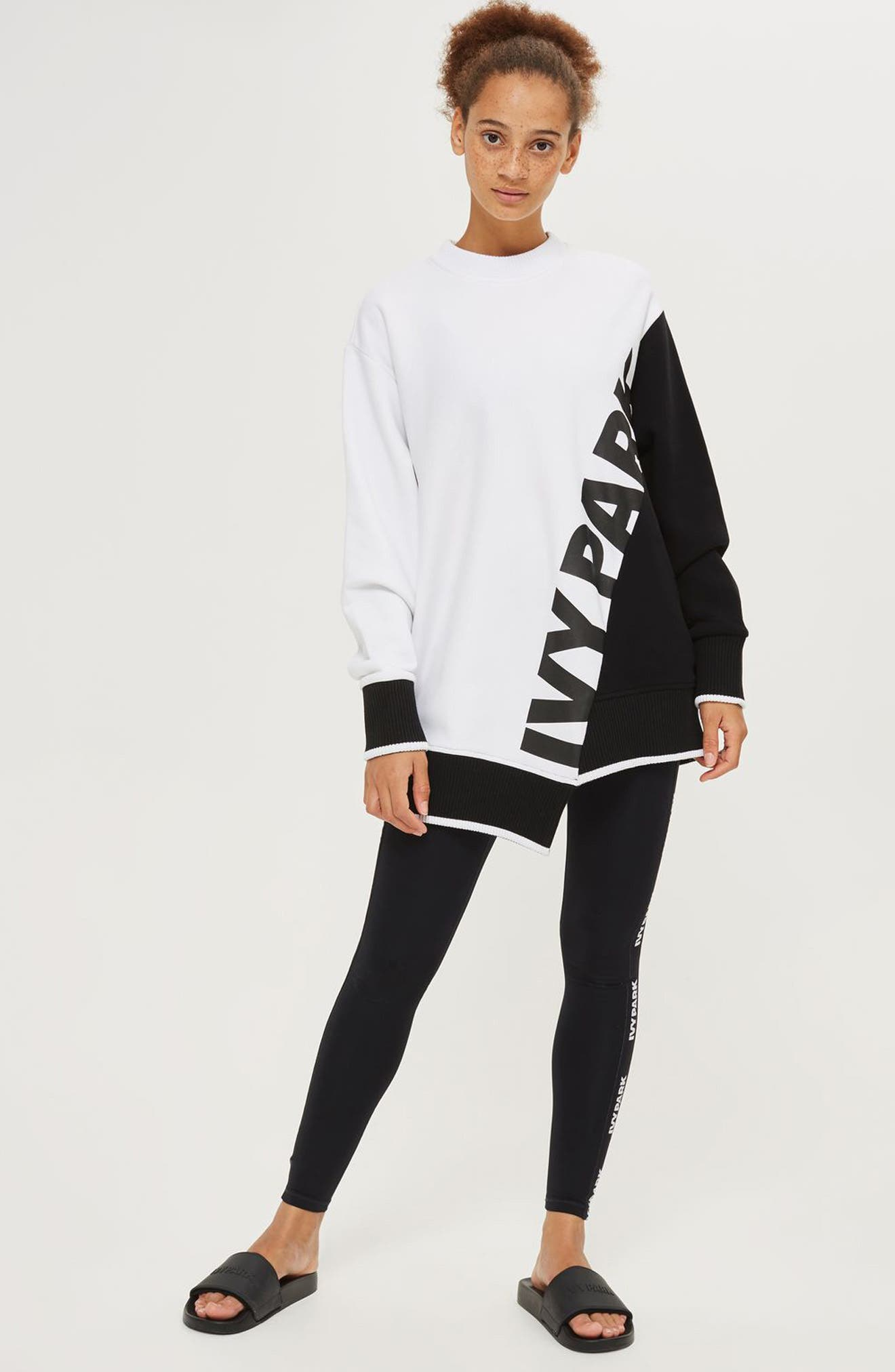 Alternate Image 2  - IVY PARK® Asymmetrical Logo Sweatshirt