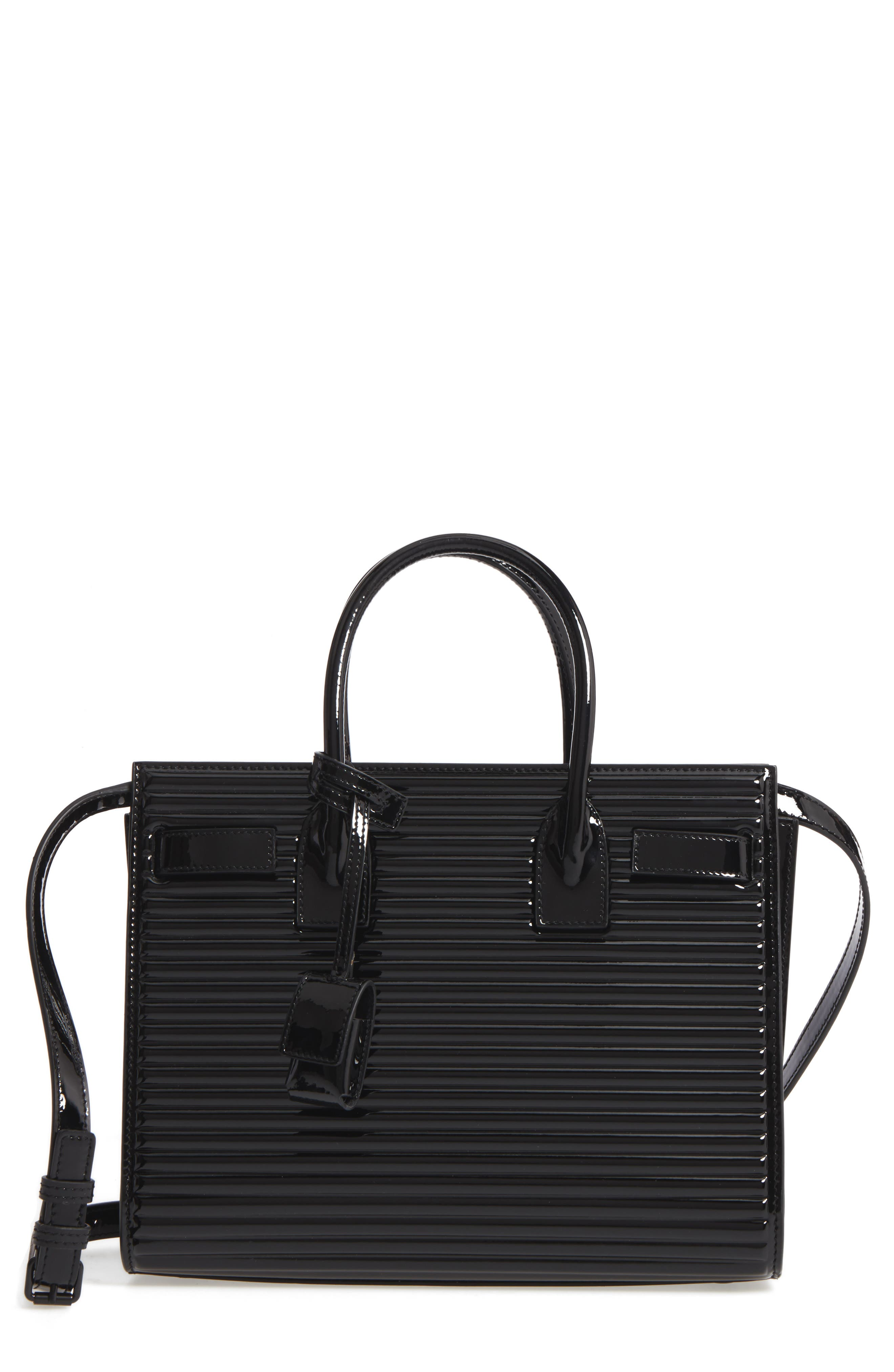 SAINT LAURENT Baby Sac de Jour Quilted Calfskin Leather Tote