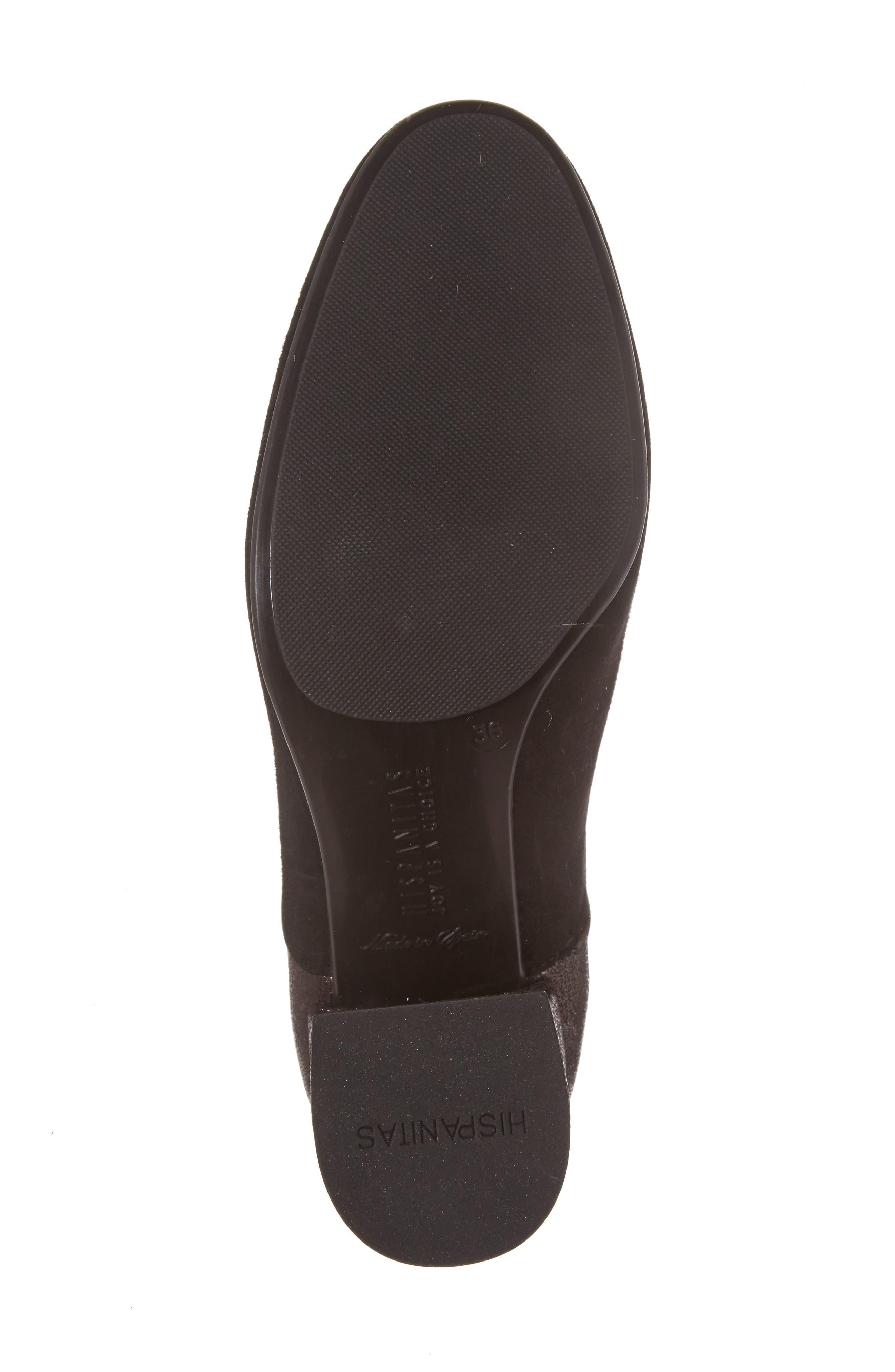 Gillian Low Bootie,                             Alternate thumbnail 6, color,                             Black Leather