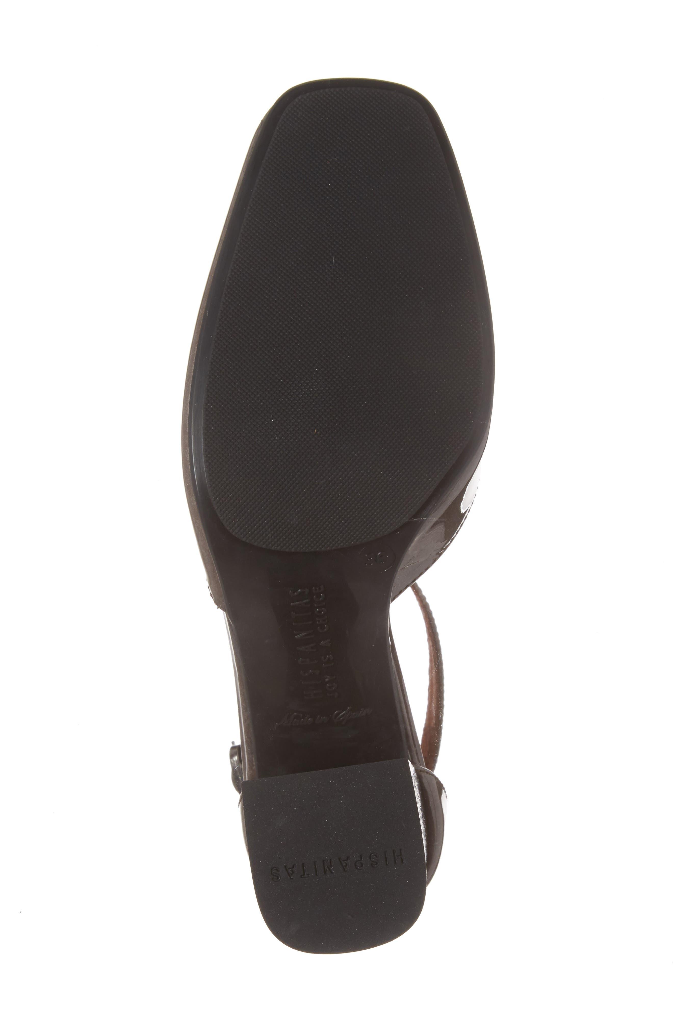 Paulette Flared Heel Pump,                             Alternate thumbnail 6, color,                             Vision Leather