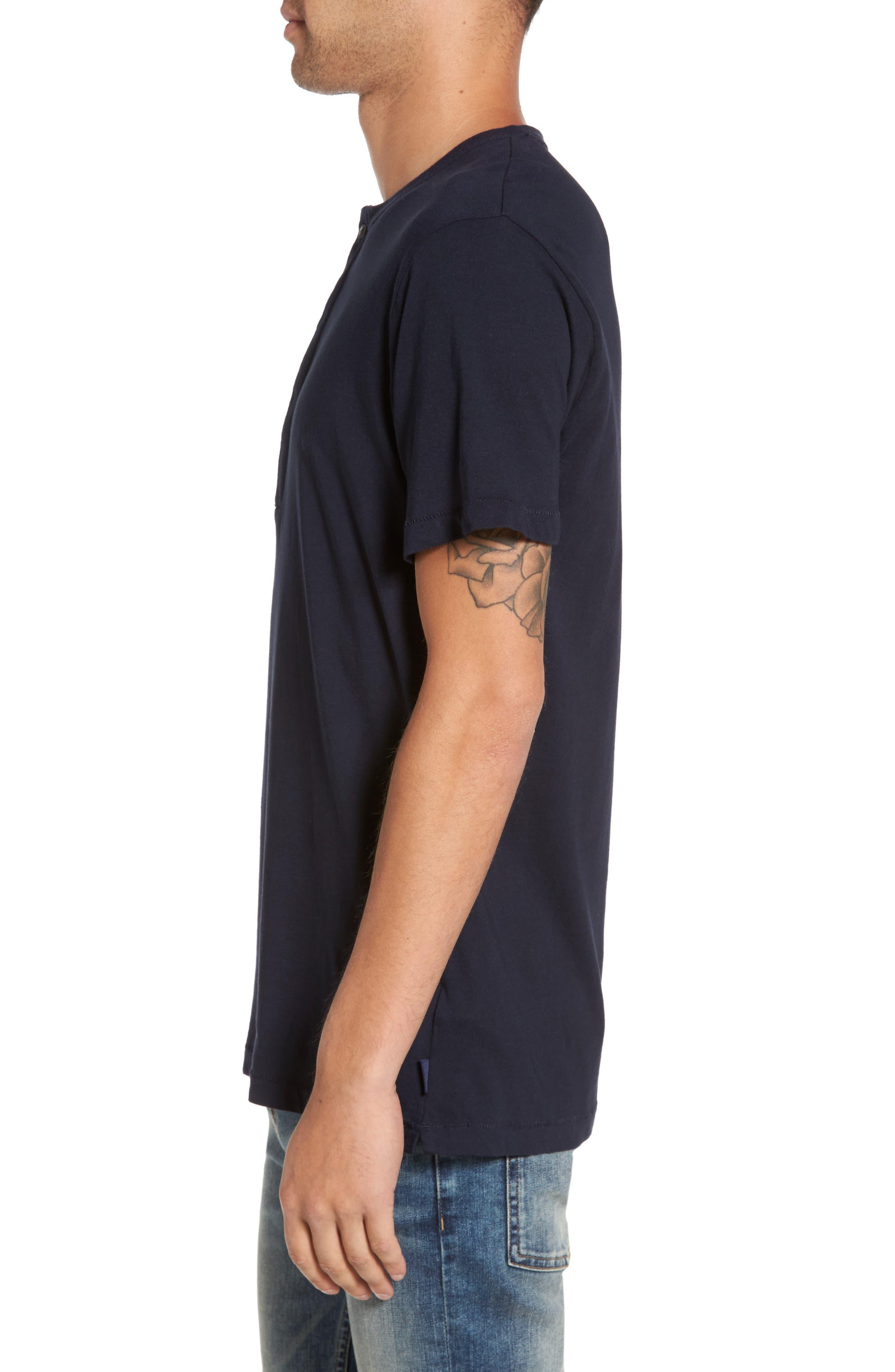 Henley T-Shirt,                             Alternate thumbnail 3, color,                             Marine Blue