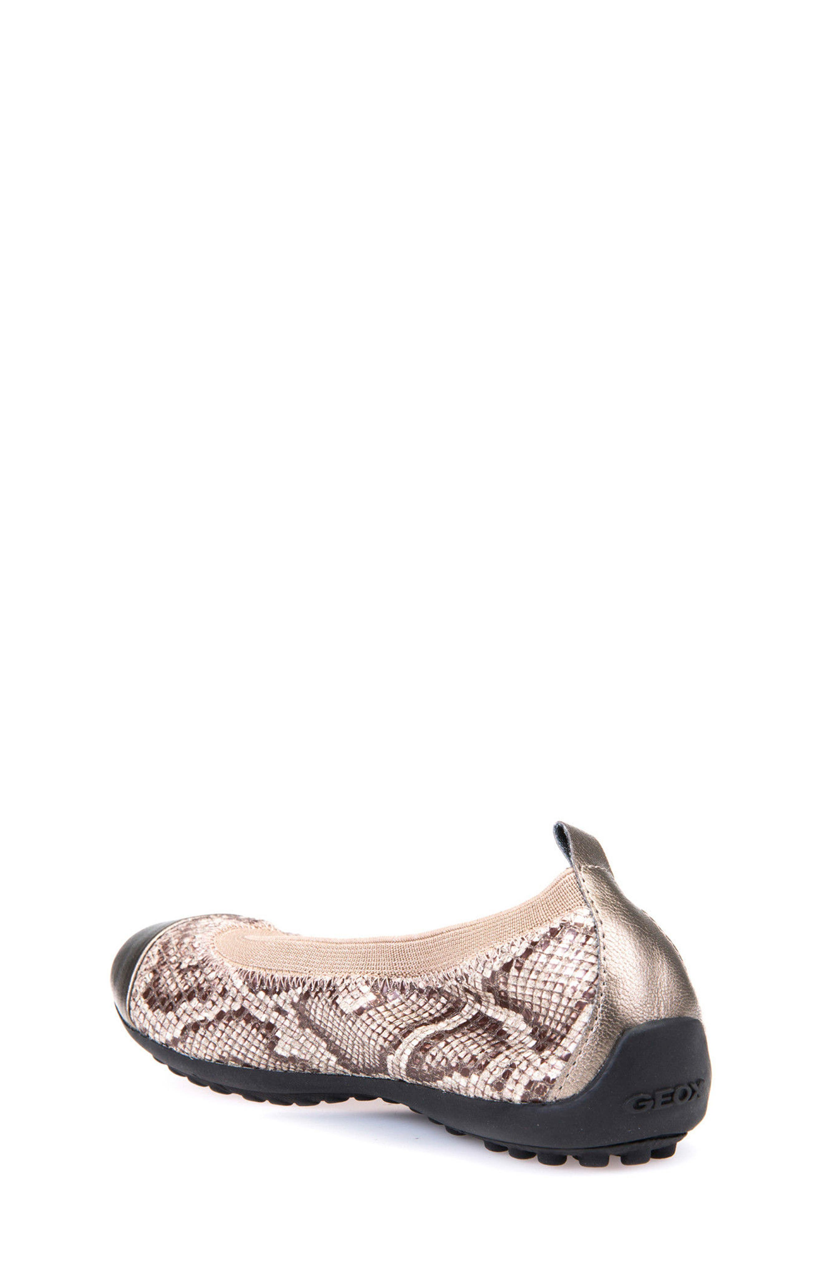 Alternate Image 2  - Geox Jr Piuma Cap Toe Ballerina Flat (Toddler, Little Kid & Big Kid)