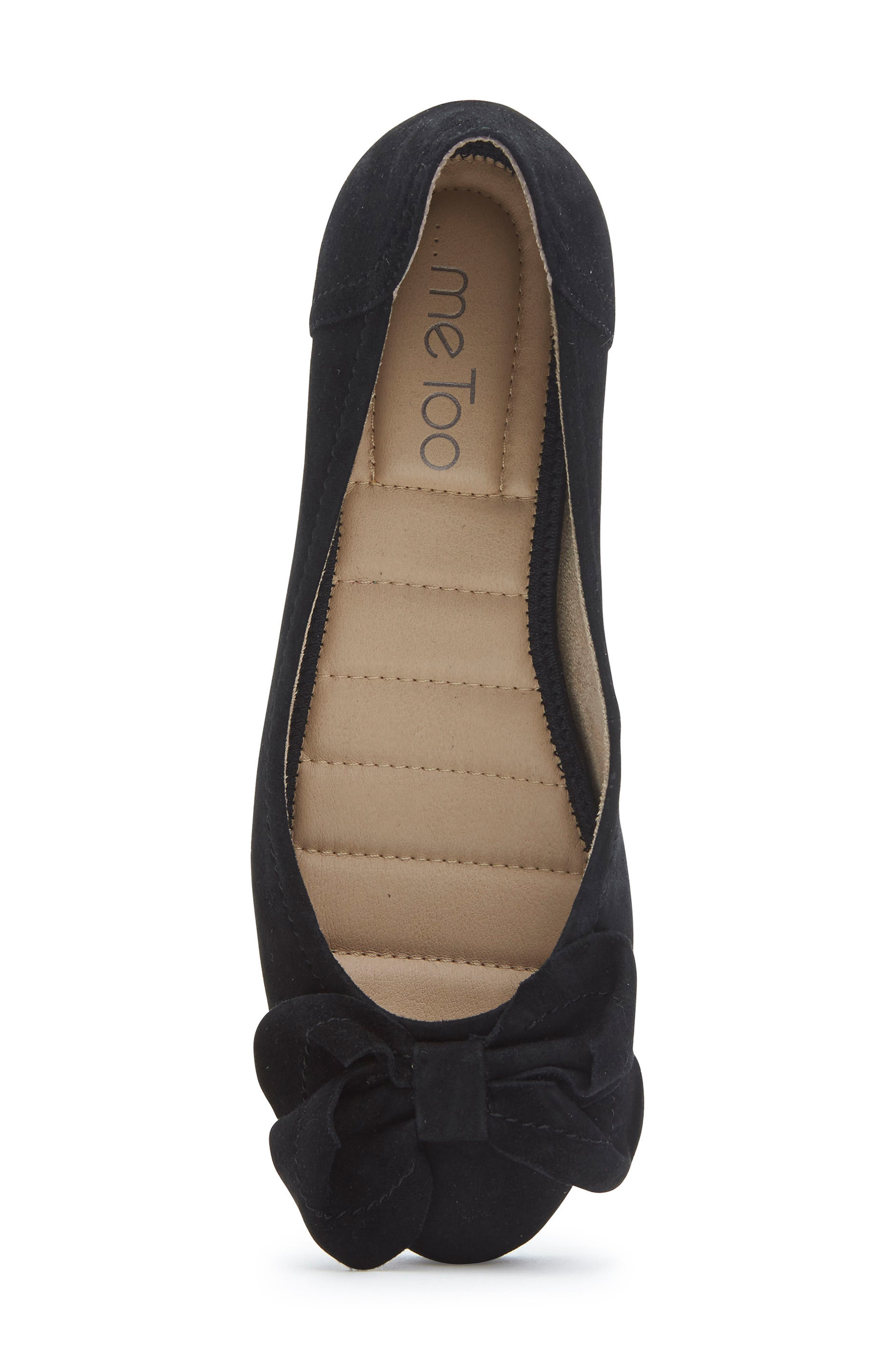 Martina Bow Ballet Wedge,                             Alternate thumbnail 5, color,                             Black Suede