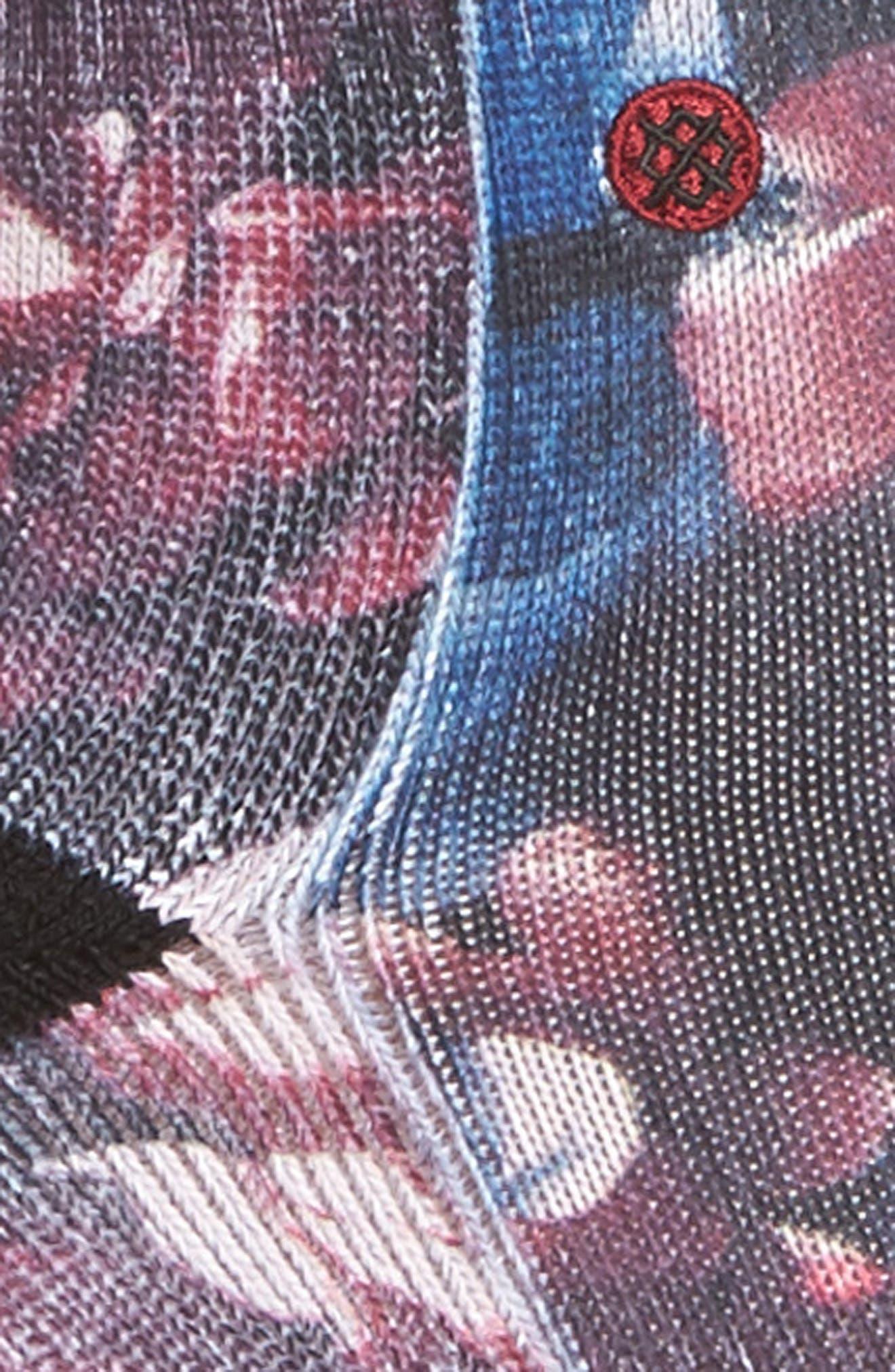 Hayley's Dozen Classic Crew Socks,                             Alternate thumbnail 2, color,                             Wine