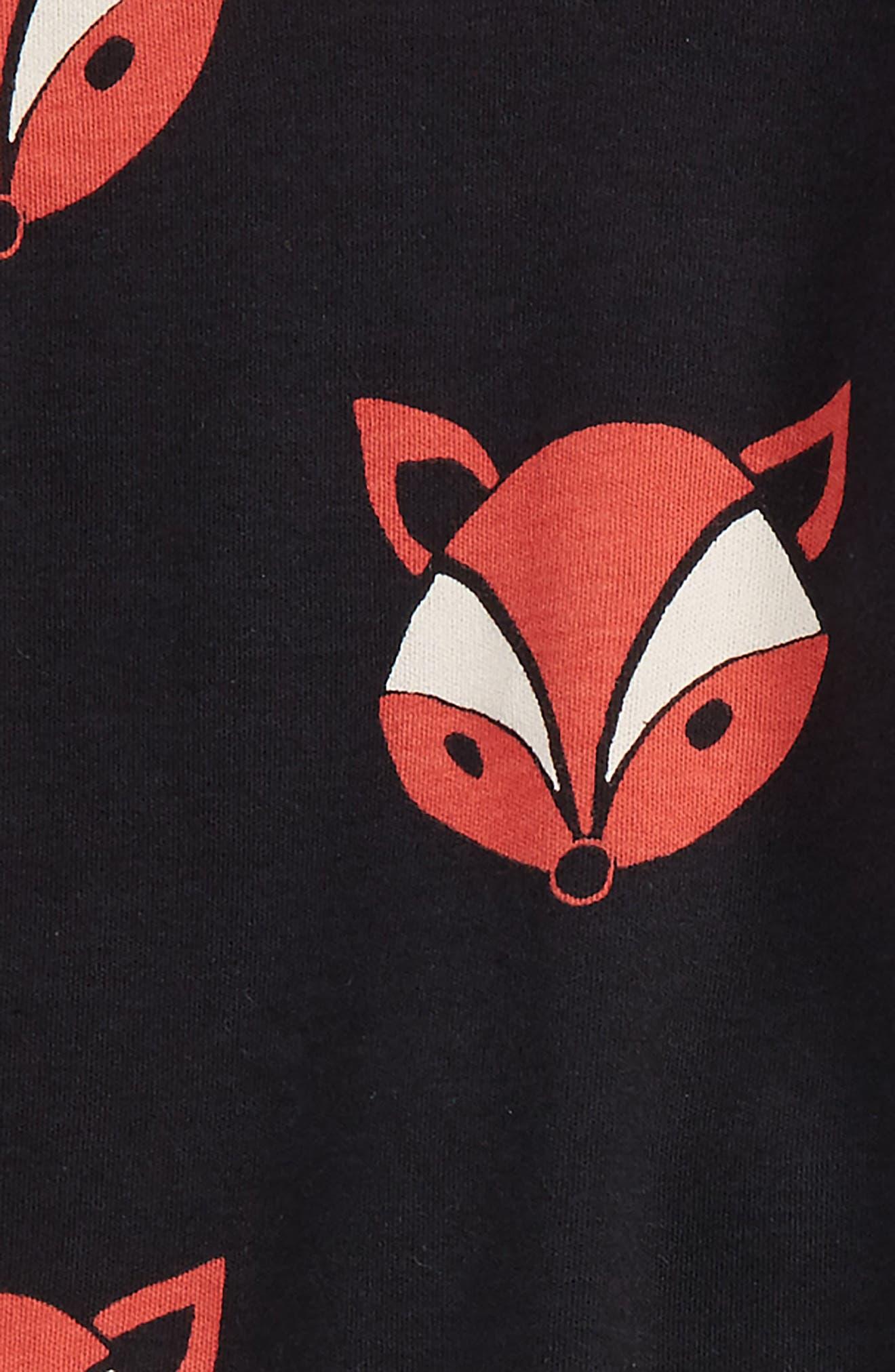 Alternate Image 4  - Masasla Baby Fox Organic Cotton Fitted Two-Piece Pajamas (Baby)