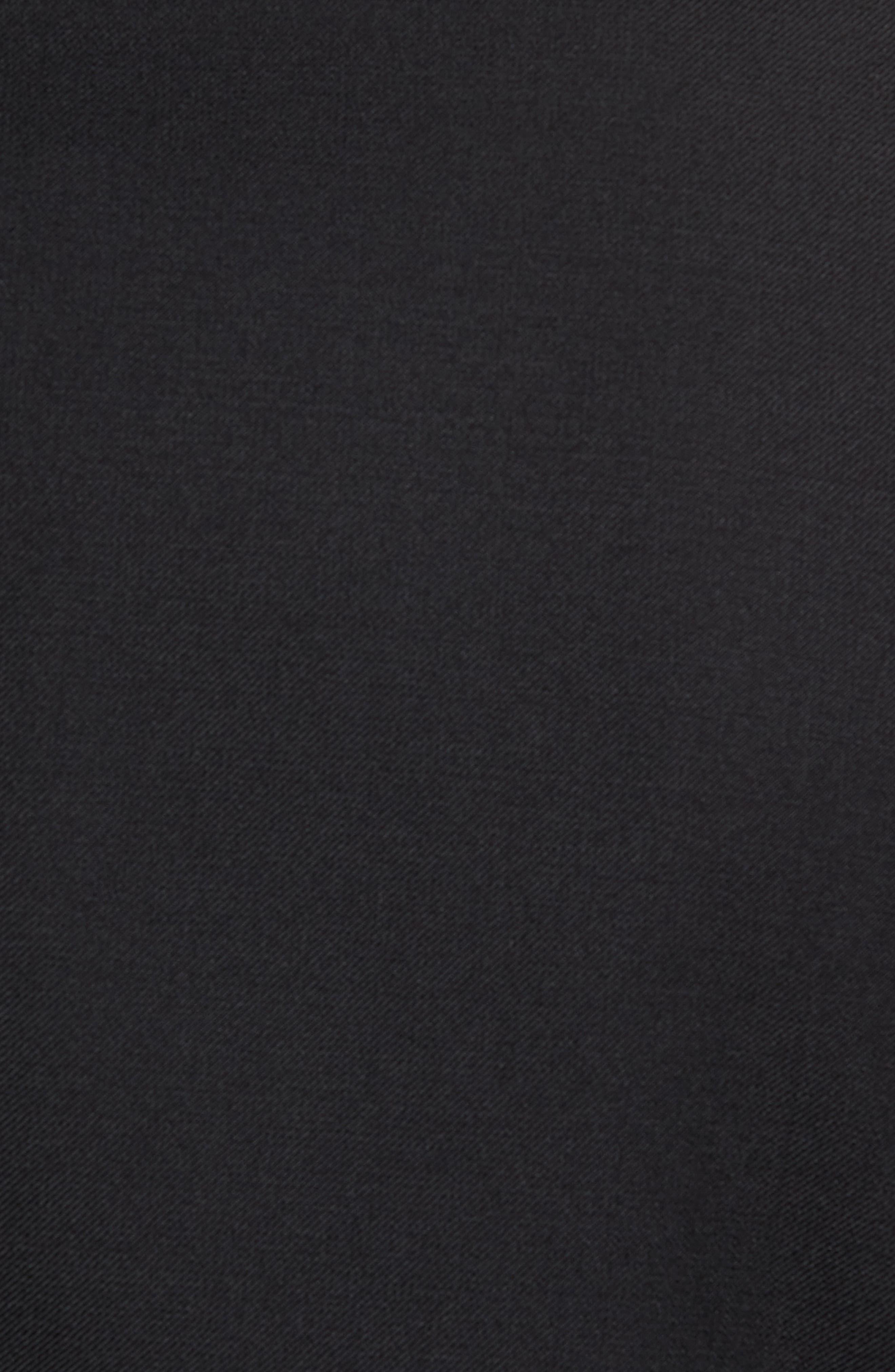 Trim Fit Wool Blend Tuxedo,                             Alternate thumbnail 7, color,                             Black