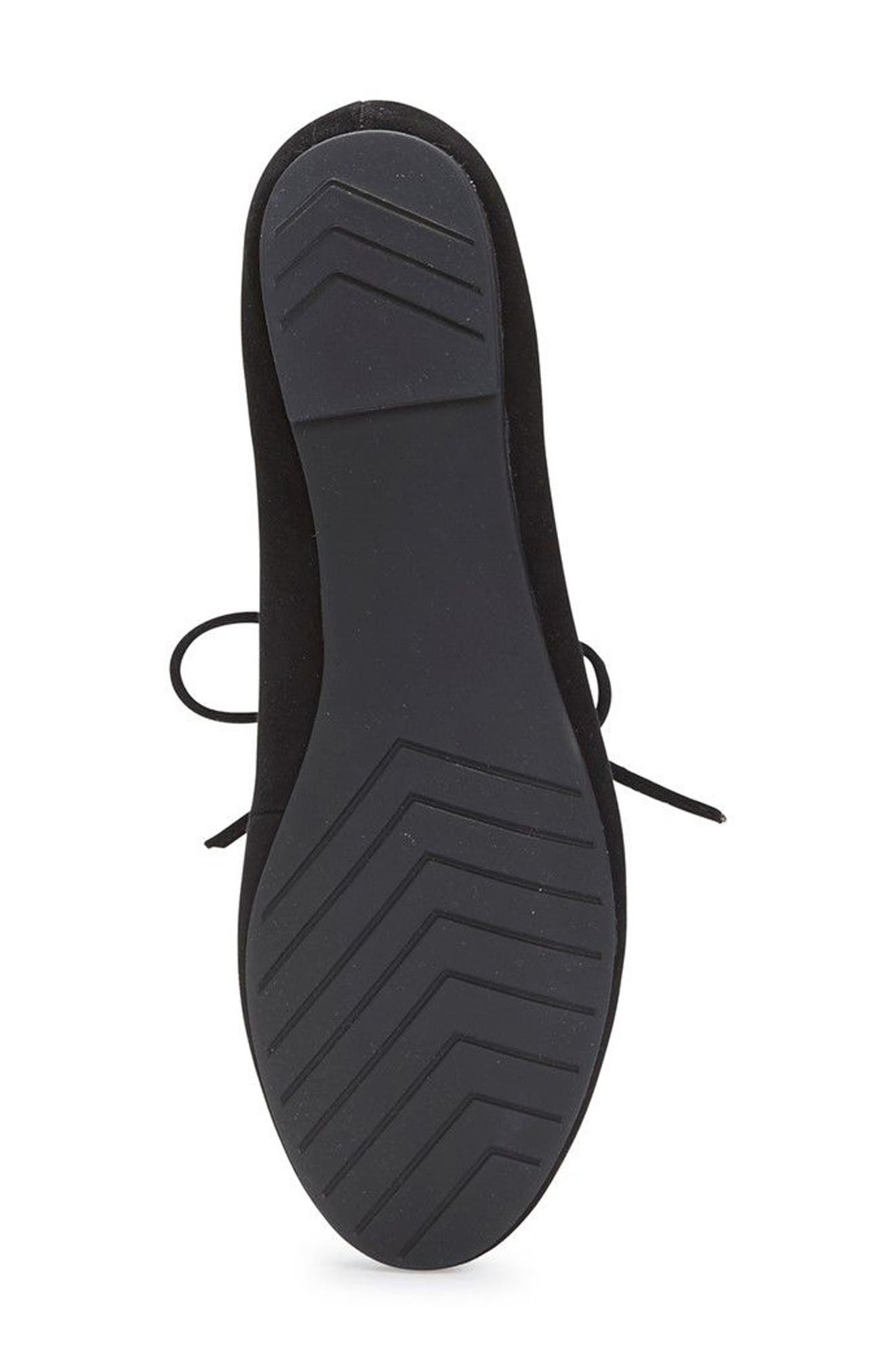 Cacey Mary Jane Flat,                             Alternate thumbnail 5, color,                             Black Suede
