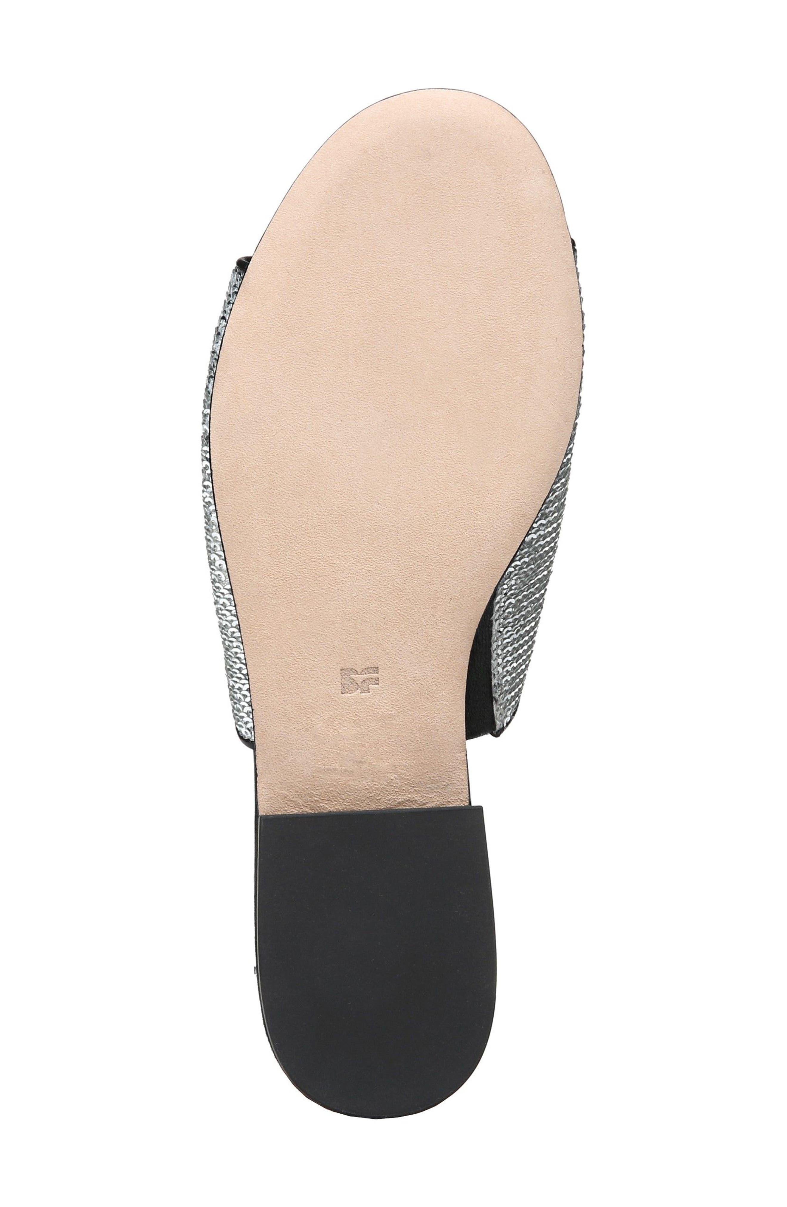 Samassi 1 Slide Sandal,                             Alternate thumbnail 6, color,                             Silver Sequins