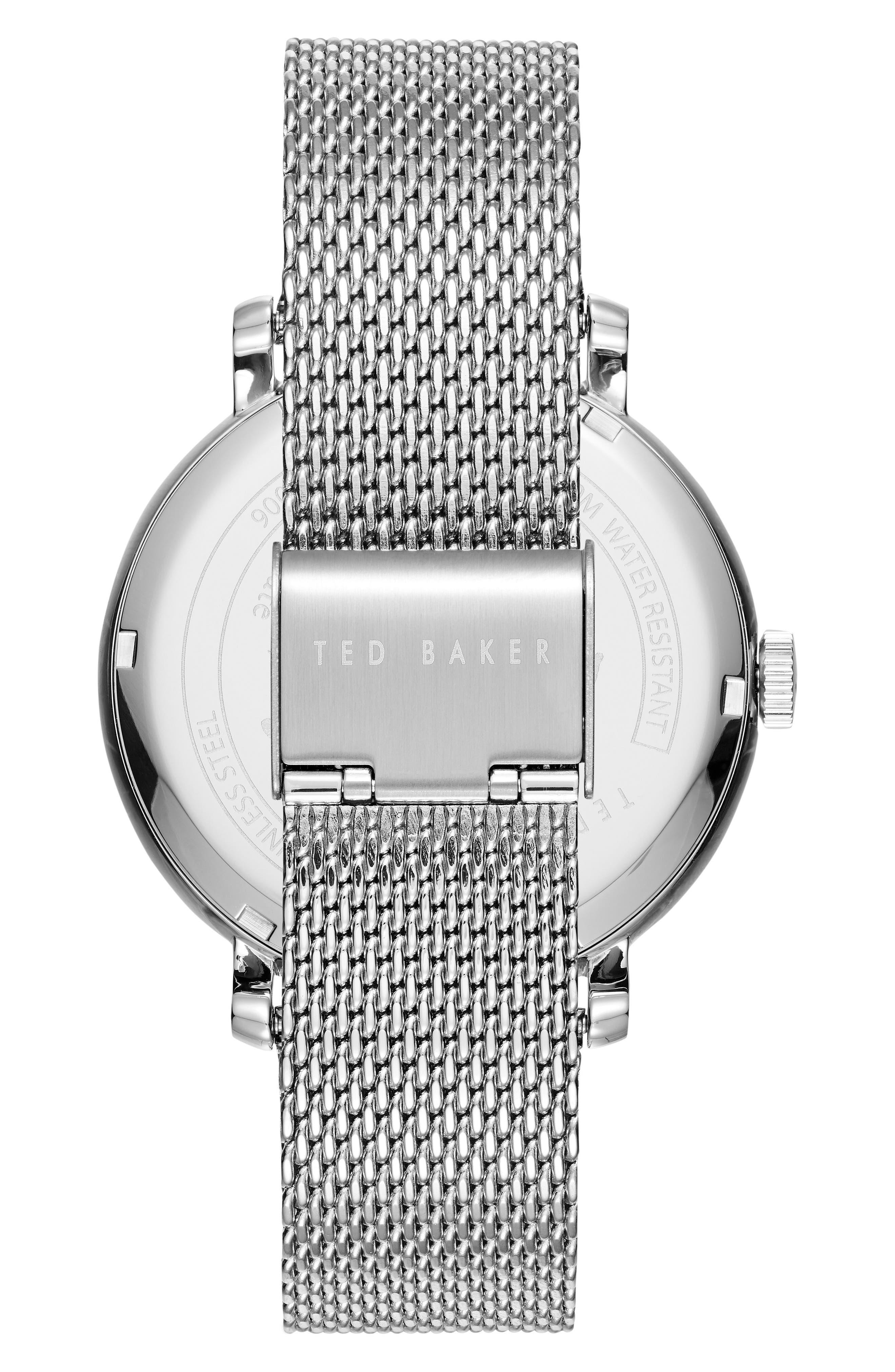 Alternate Image 2  - Ted Baker London Oliver Mesh Strap Watch, 44mm