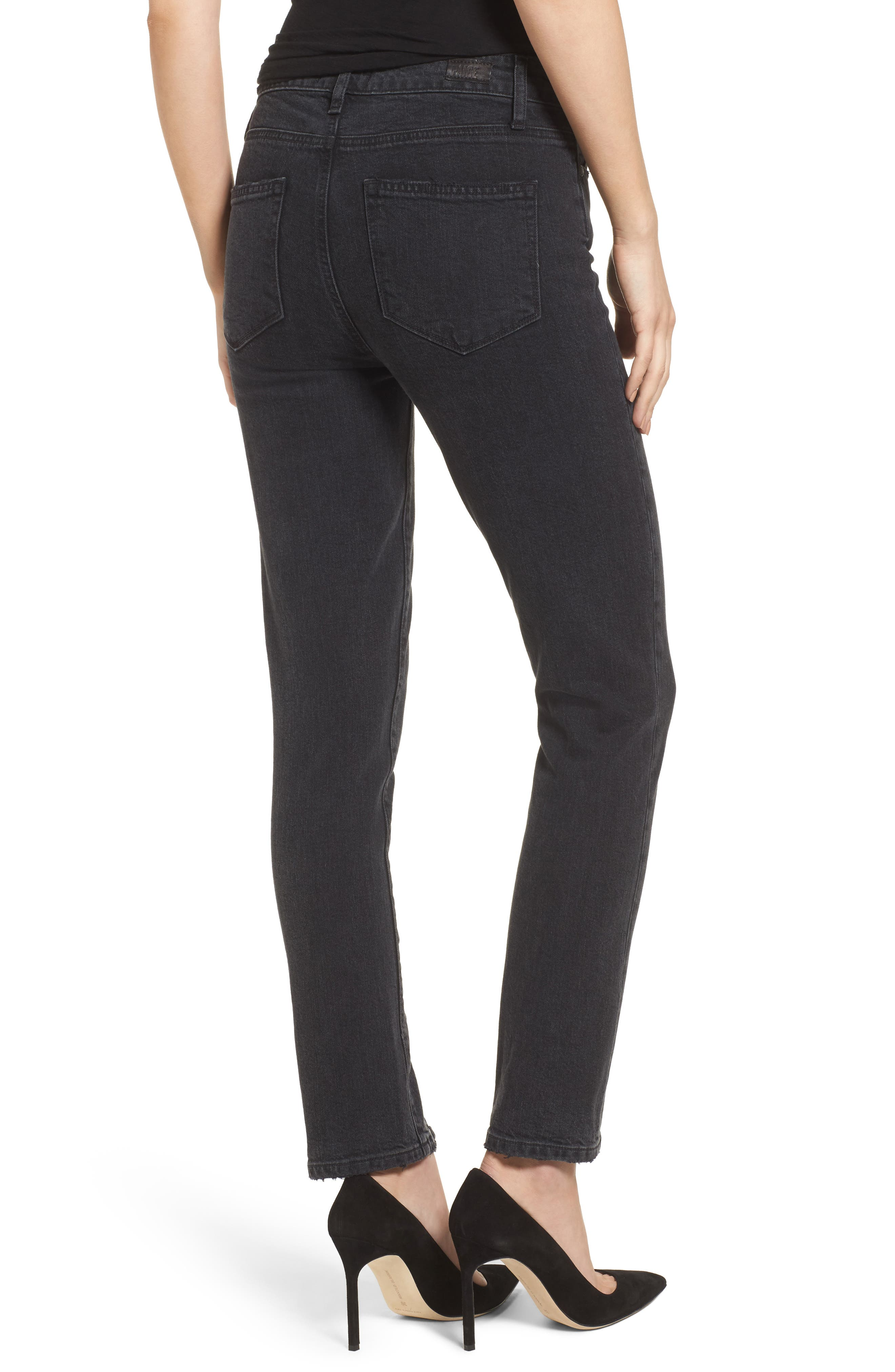 Alternate Image 2  - PAIGE Transcend Vintage - Julia High Waist Straight Leg Jeans (Mother of Pearl)