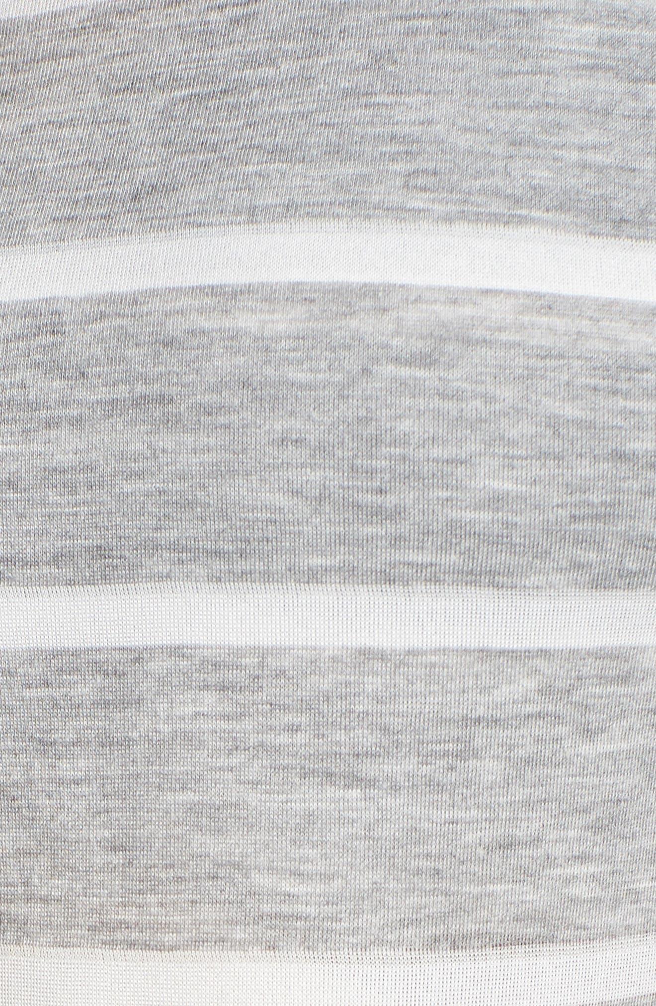 Maternity/Nursing Tank Pajamas,                             Alternate thumbnail 6, color,                             Grey Stripe