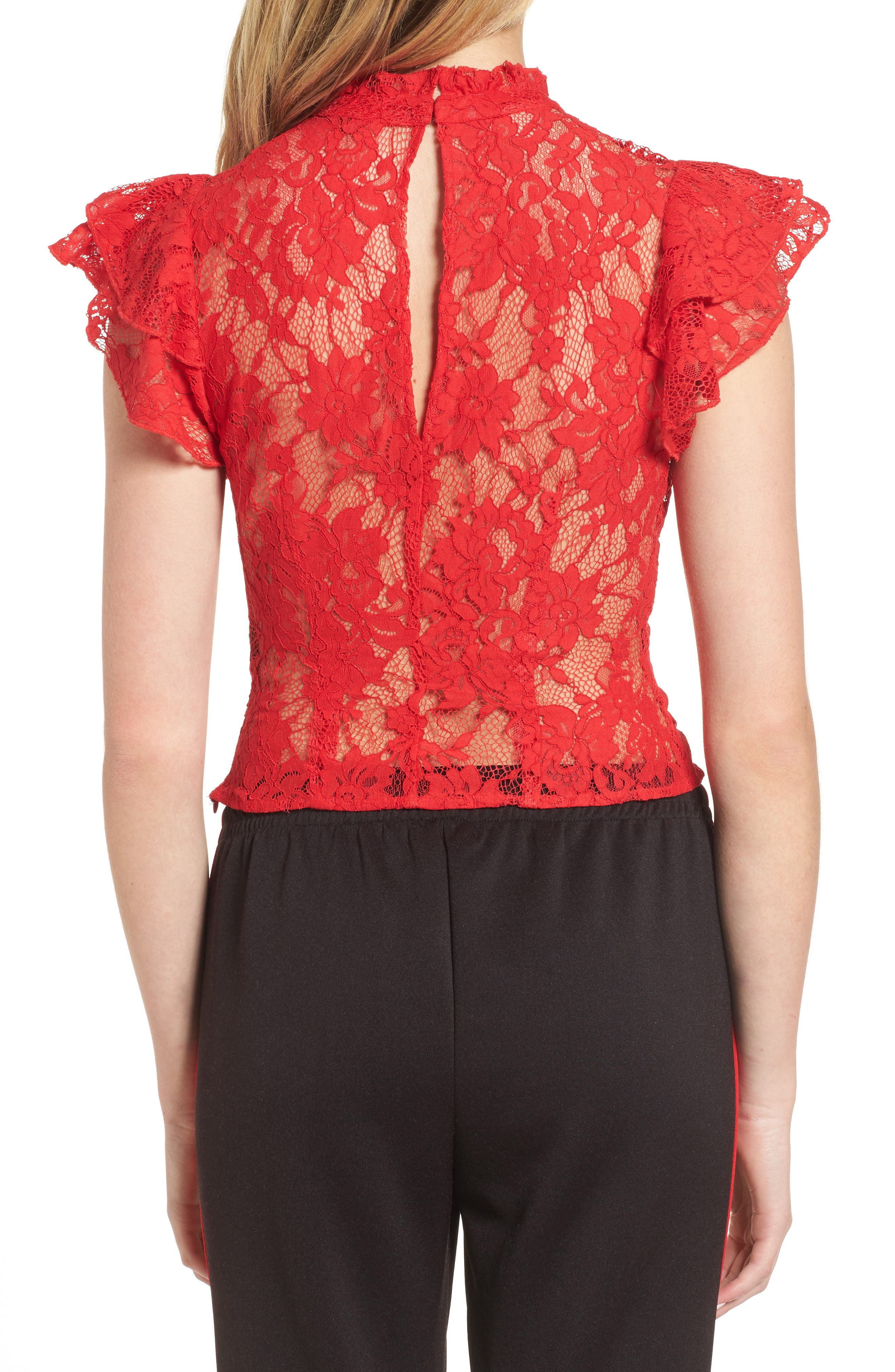 Alternate Image 2  - AFRM Blaire Ruffle Lace Top