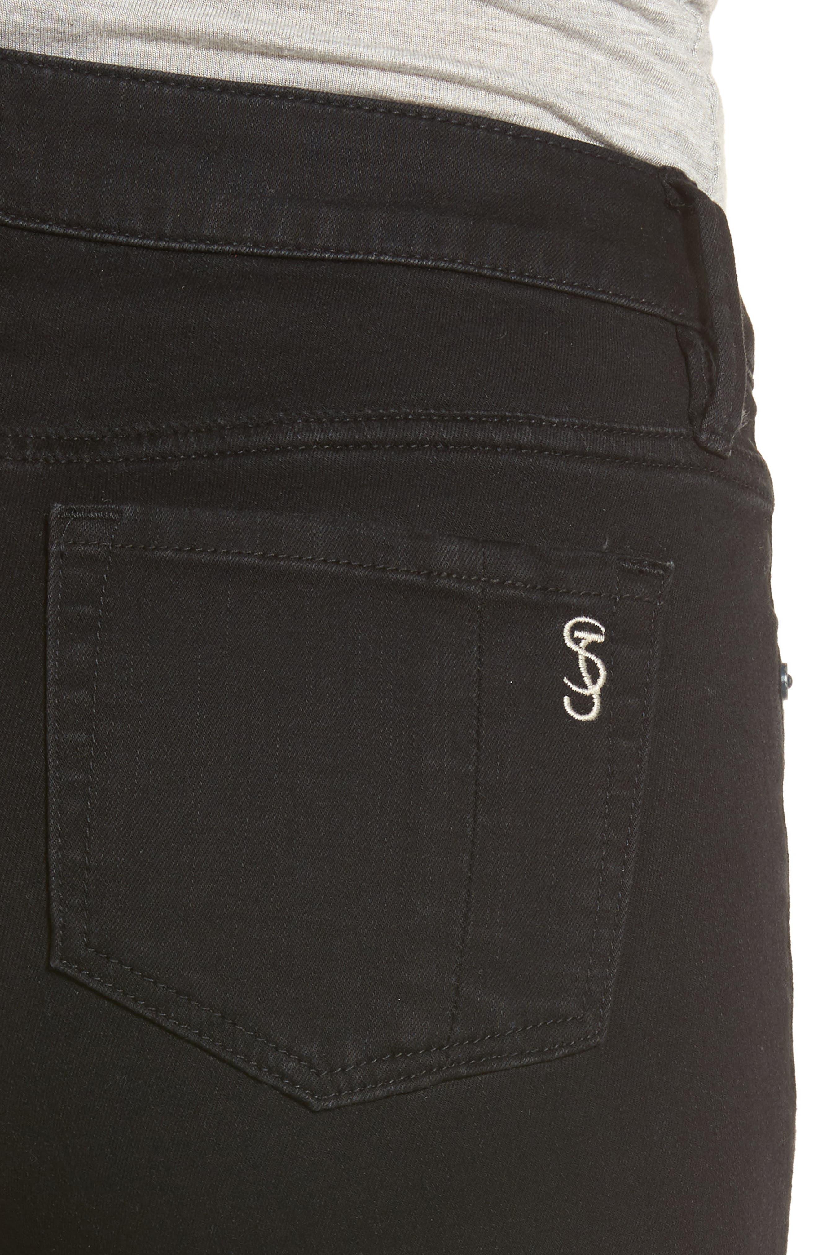 Slim Jeans,                             Alternate thumbnail 4, color,                             Black