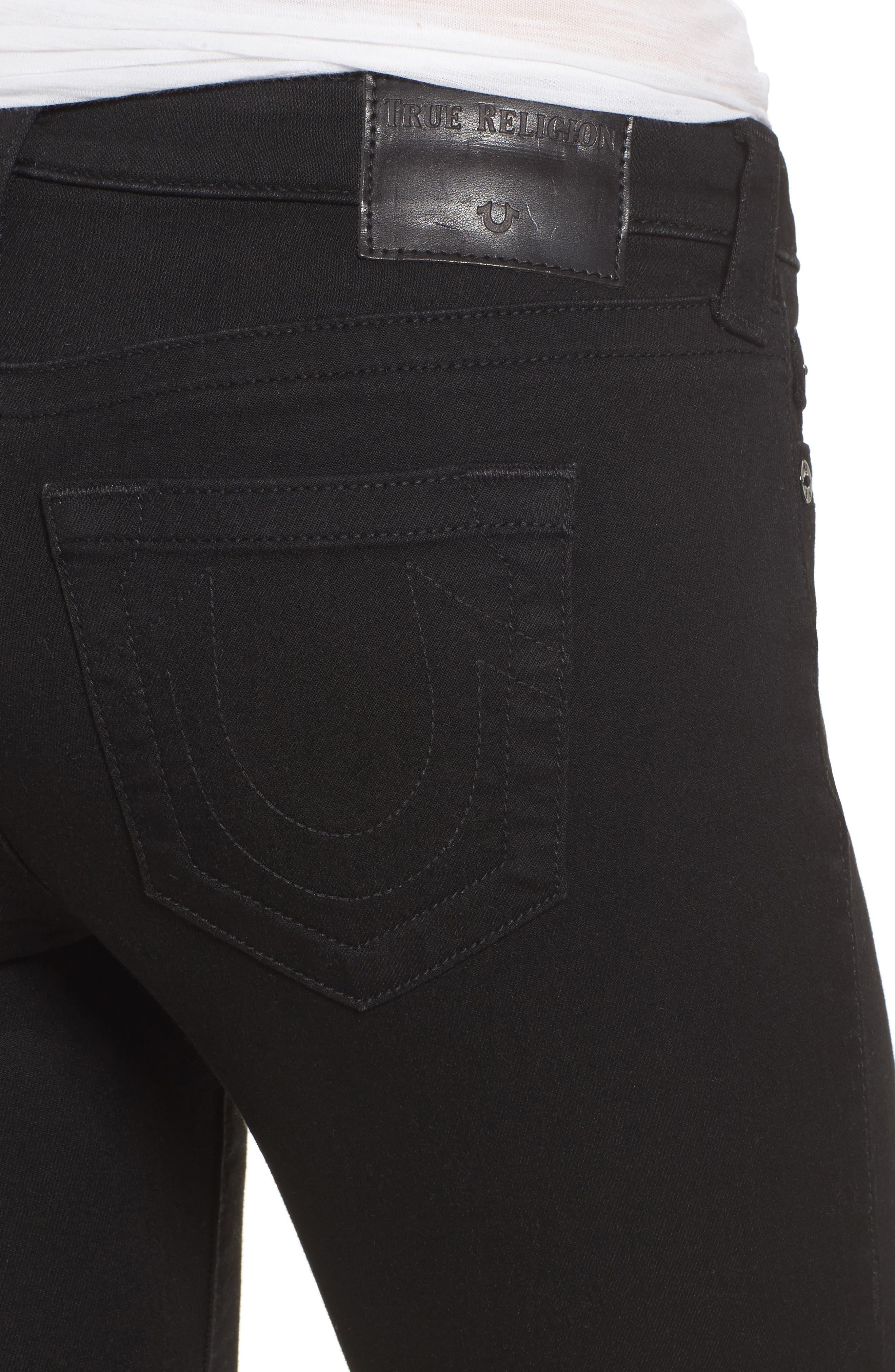 Halle Super Skinny Jeans,                             Alternate thumbnail 4, color,                             Way Back Black