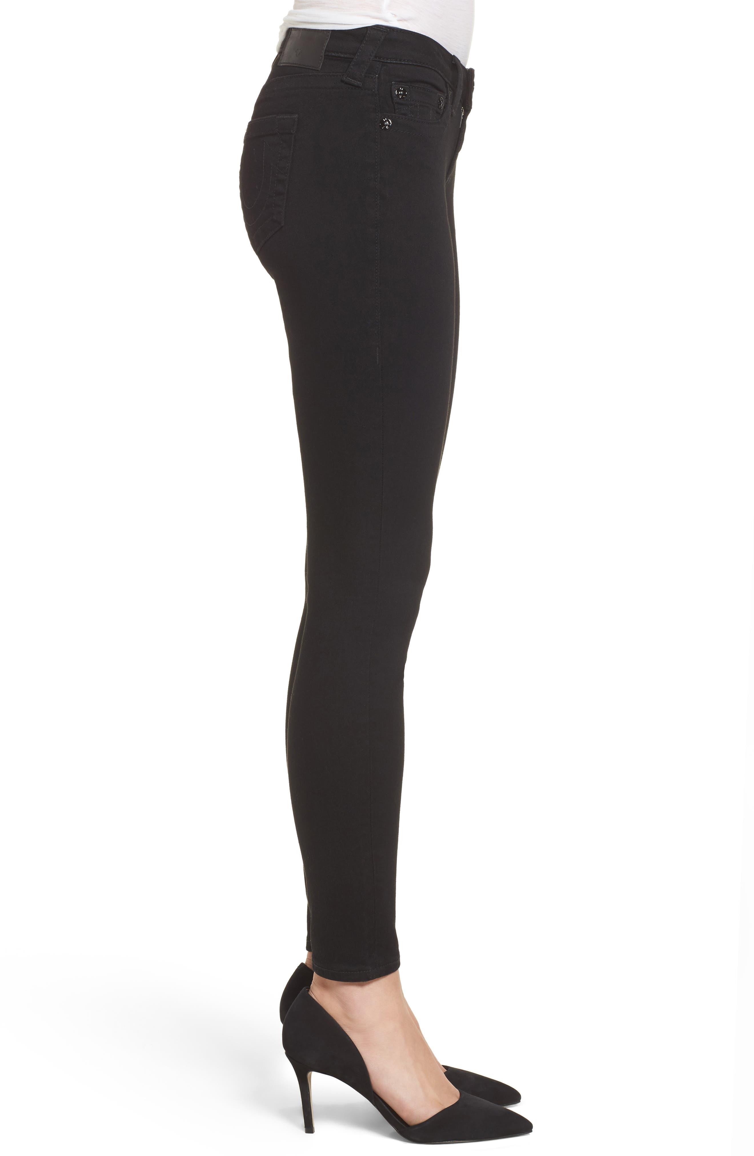 Halle Super Skinny Jeans,                             Alternate thumbnail 3, color,                             Way Back Black