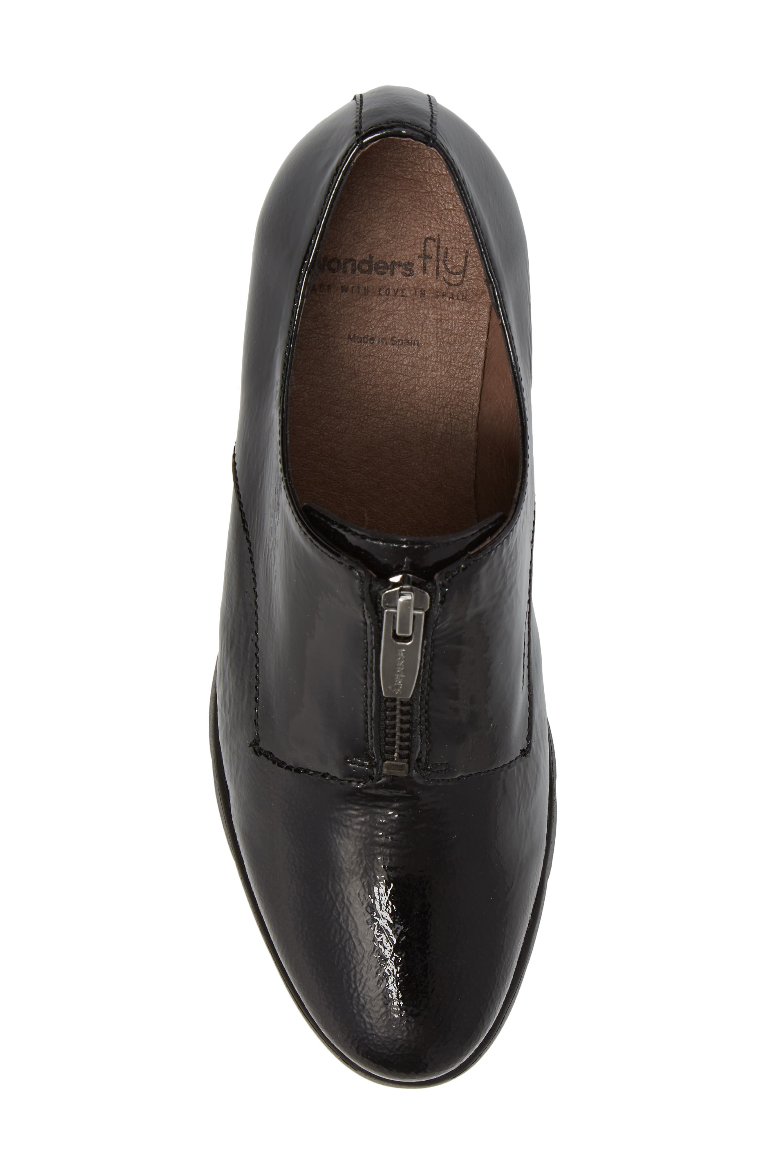 Platform Derby,                             Alternate thumbnail 5, color,                             Black Patent Leather