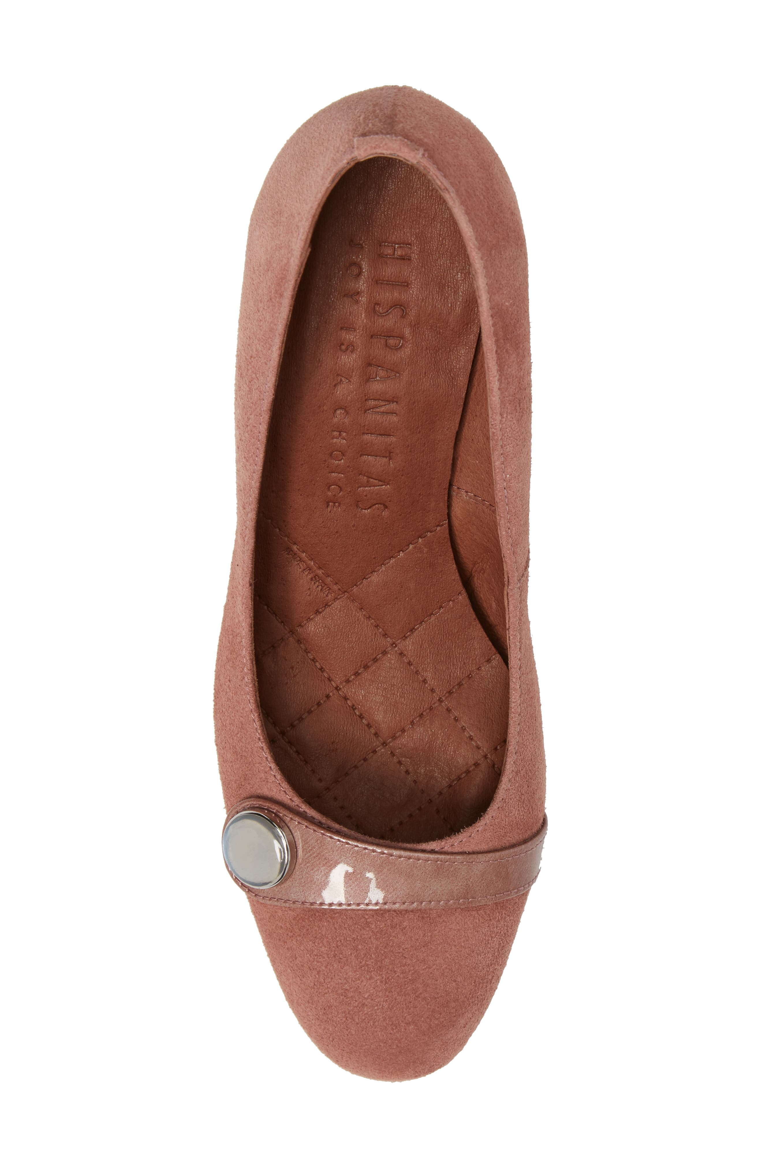 Gretchen Pump,                             Alternate thumbnail 5, color,                             Rose Leather