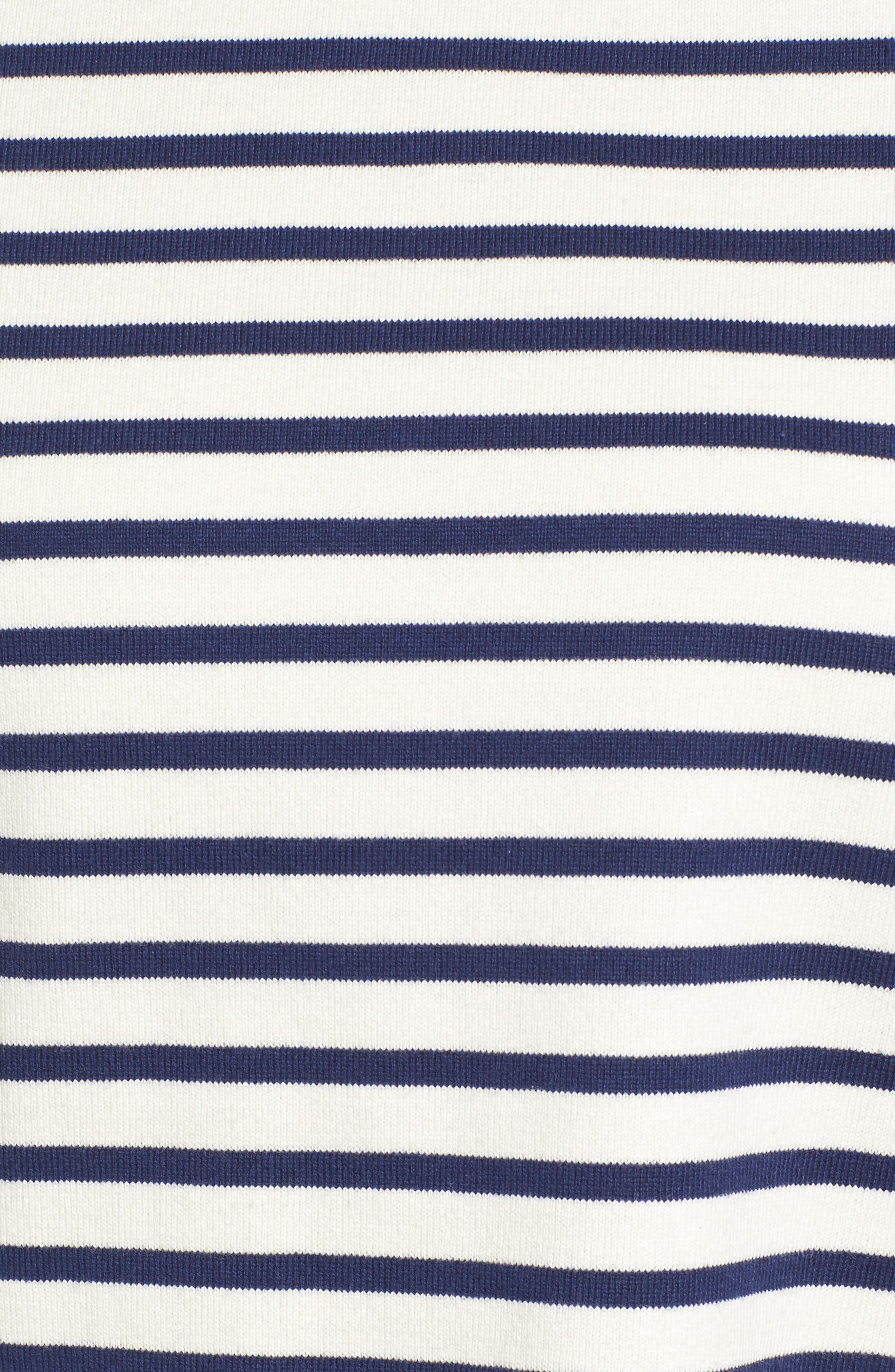 Elbow Patch Mixed Stripe Top,                             Alternate thumbnail 5, color,                             Deep Bay