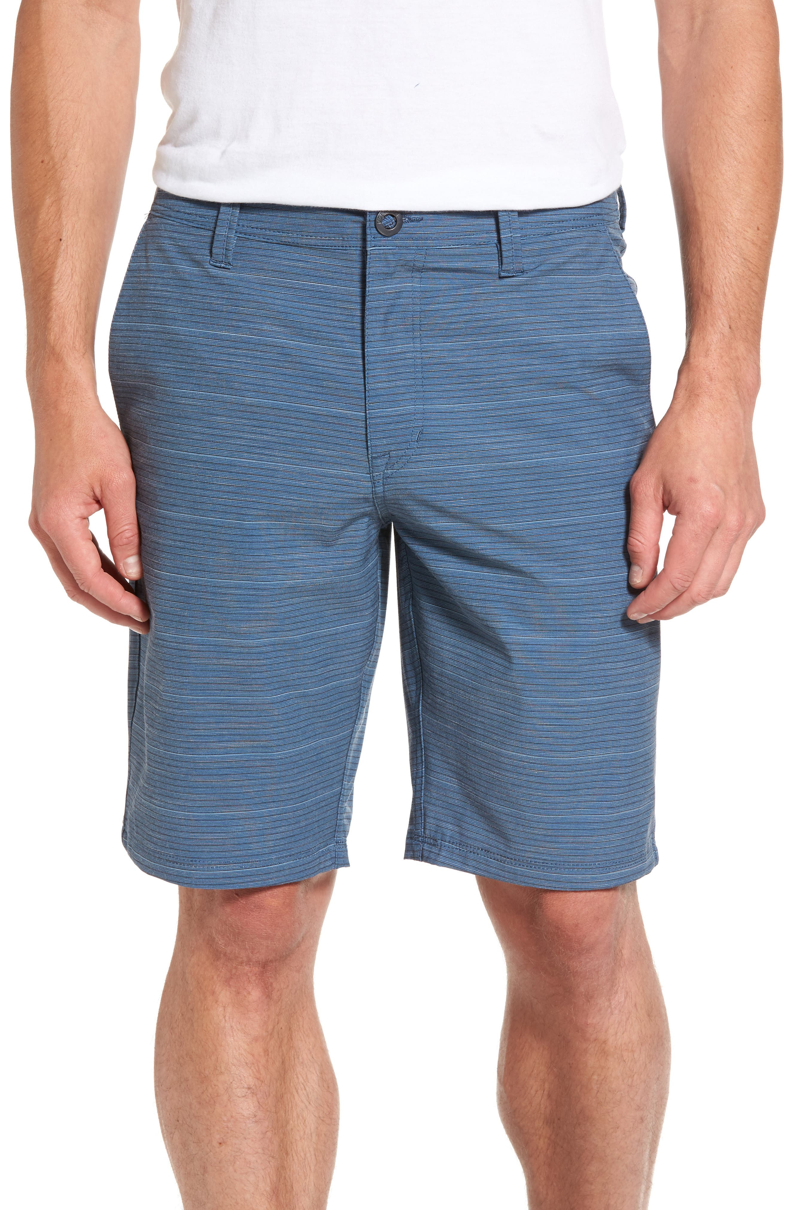 Stone Modern Hybrid Shorts,                         Main,                         color, Blue Smoke