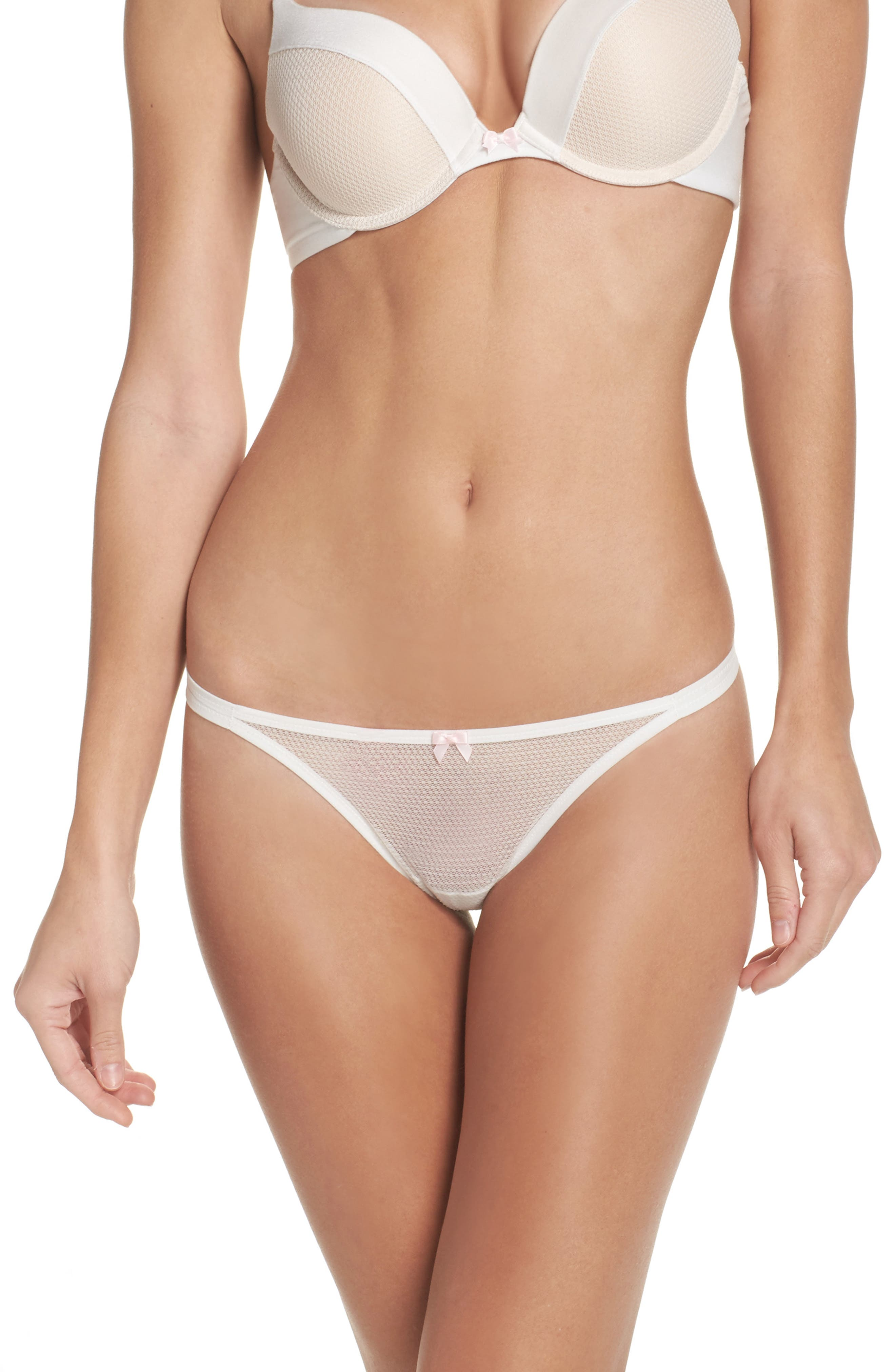 Alternate Image 1 Selected - Betsey Johnson Double String Thong (3 for $33)