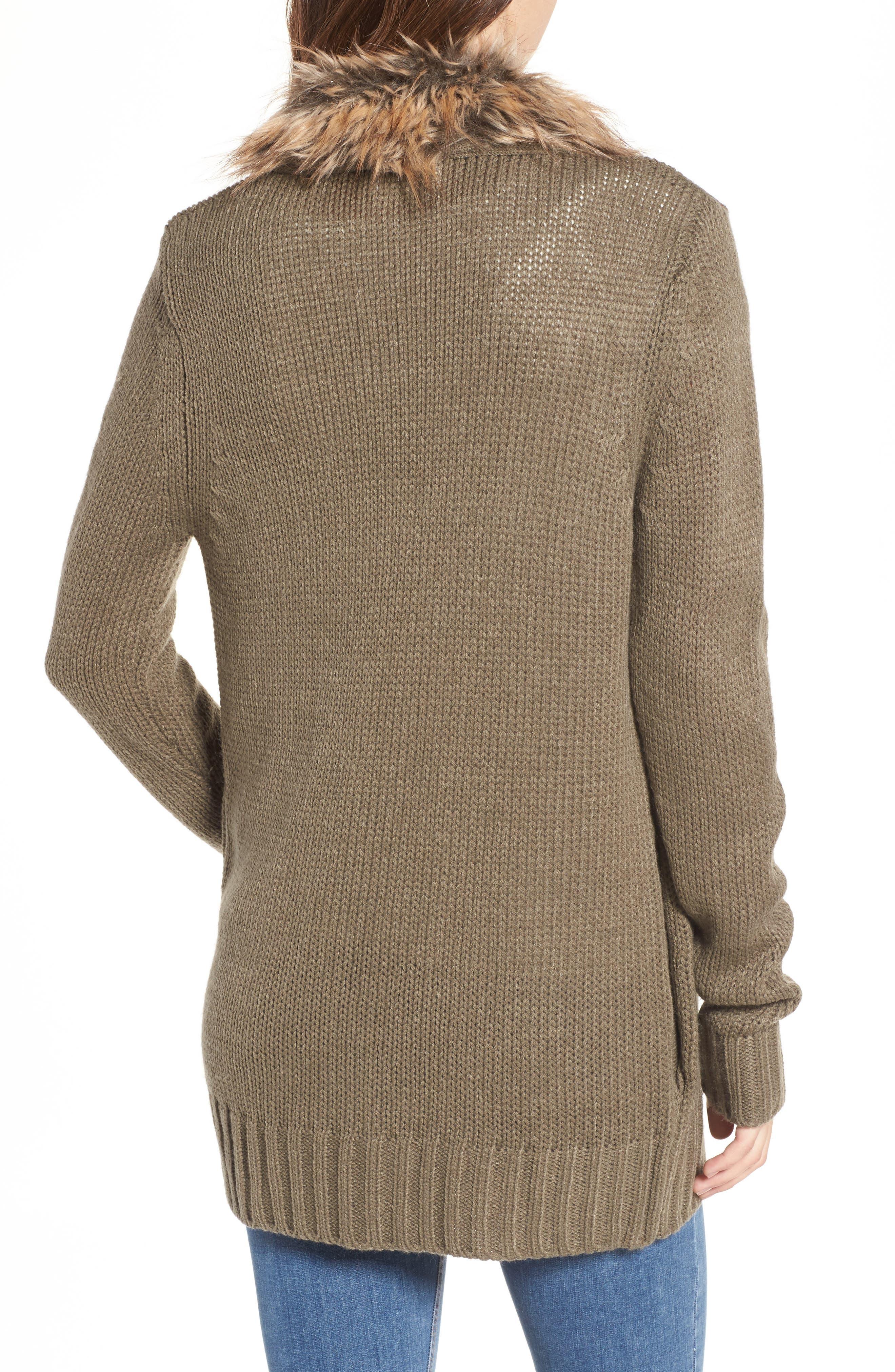 Alternate Image 2  - Show Me Your Mumu Kenn Faux Fur Trim Cardigan