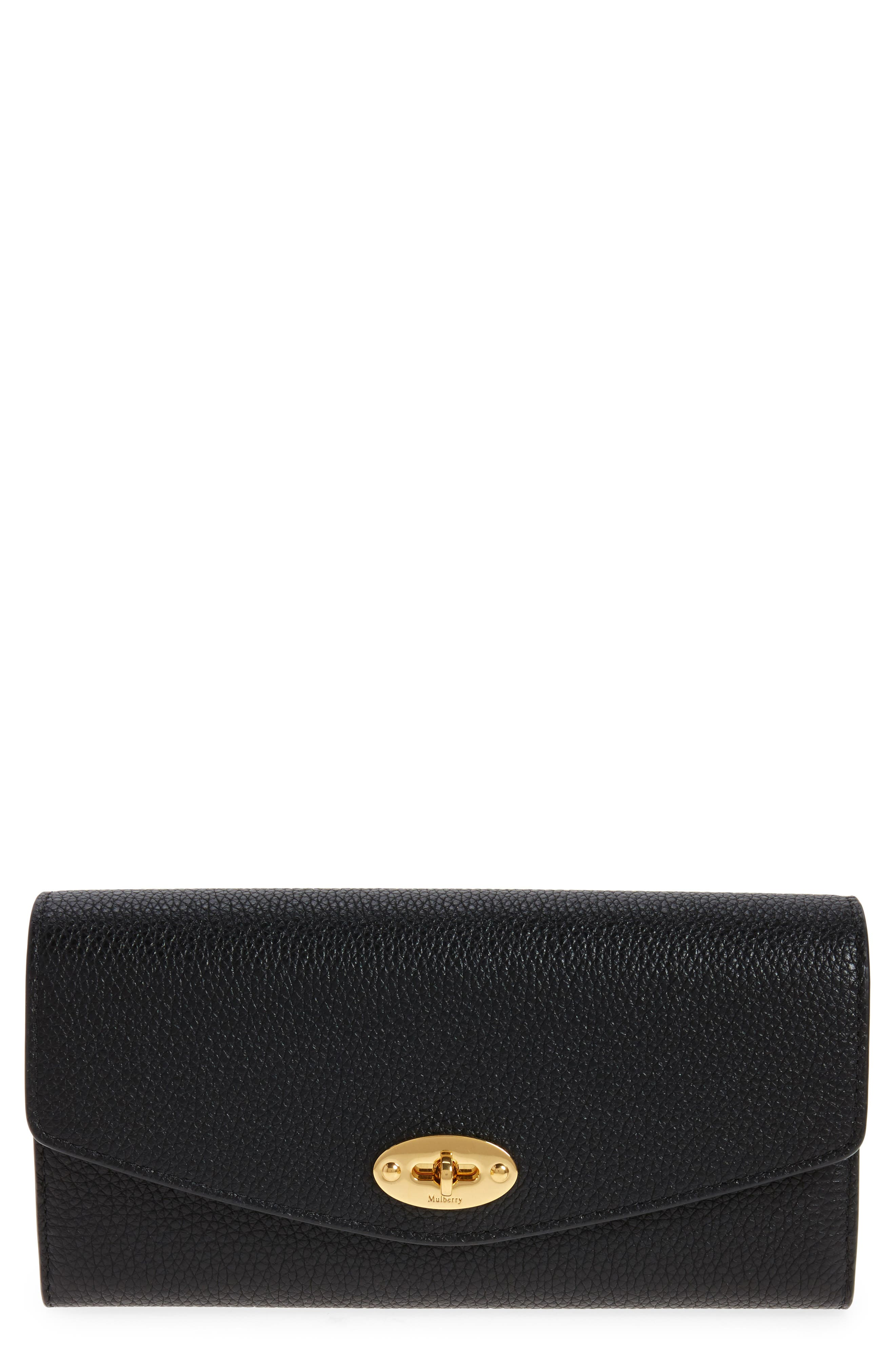 Darley Continental Leather Wallet,                             Main thumbnail 1, color,                             Black