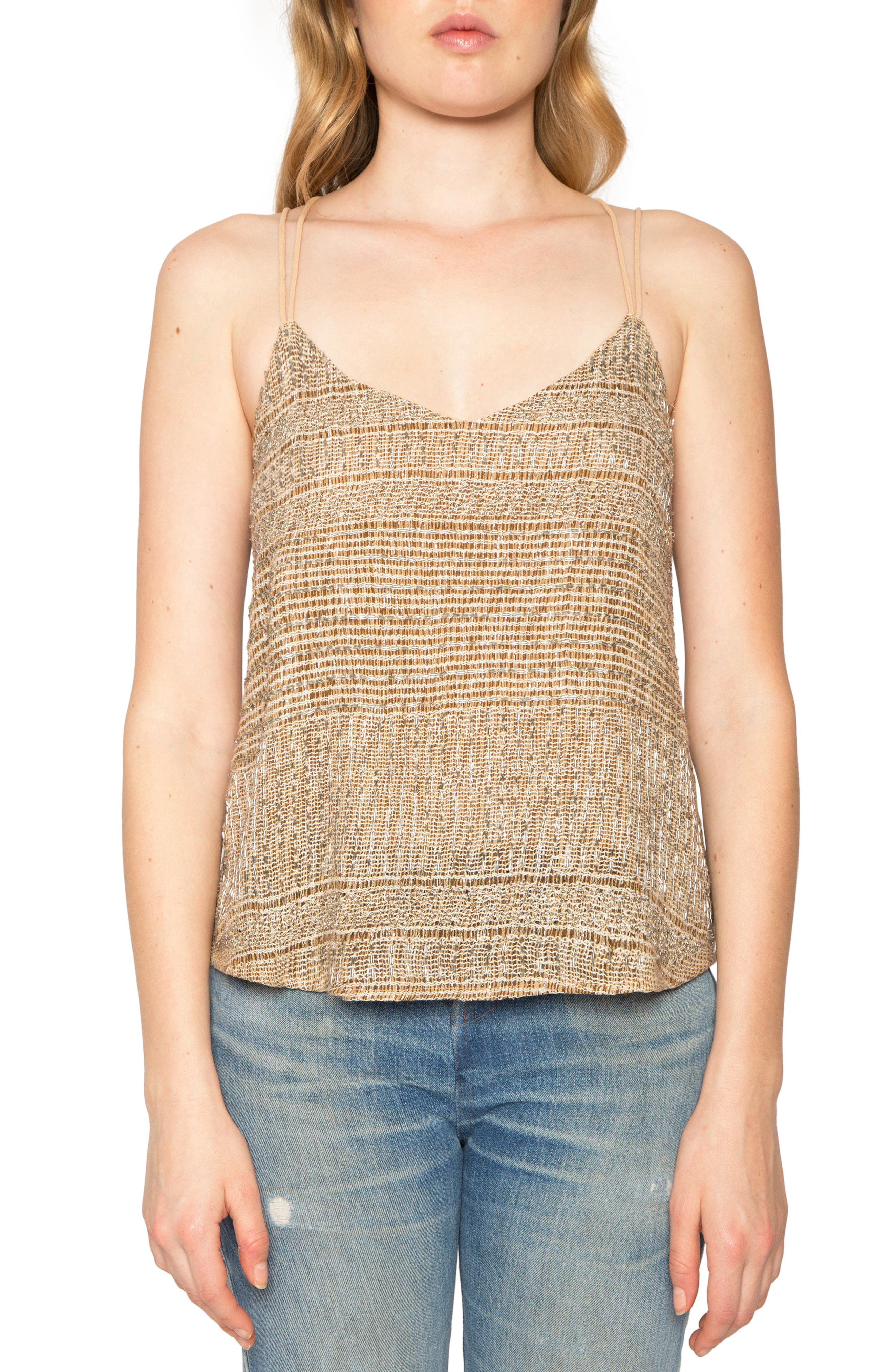Strappy Camisole,                         Main,                         color, Taupe