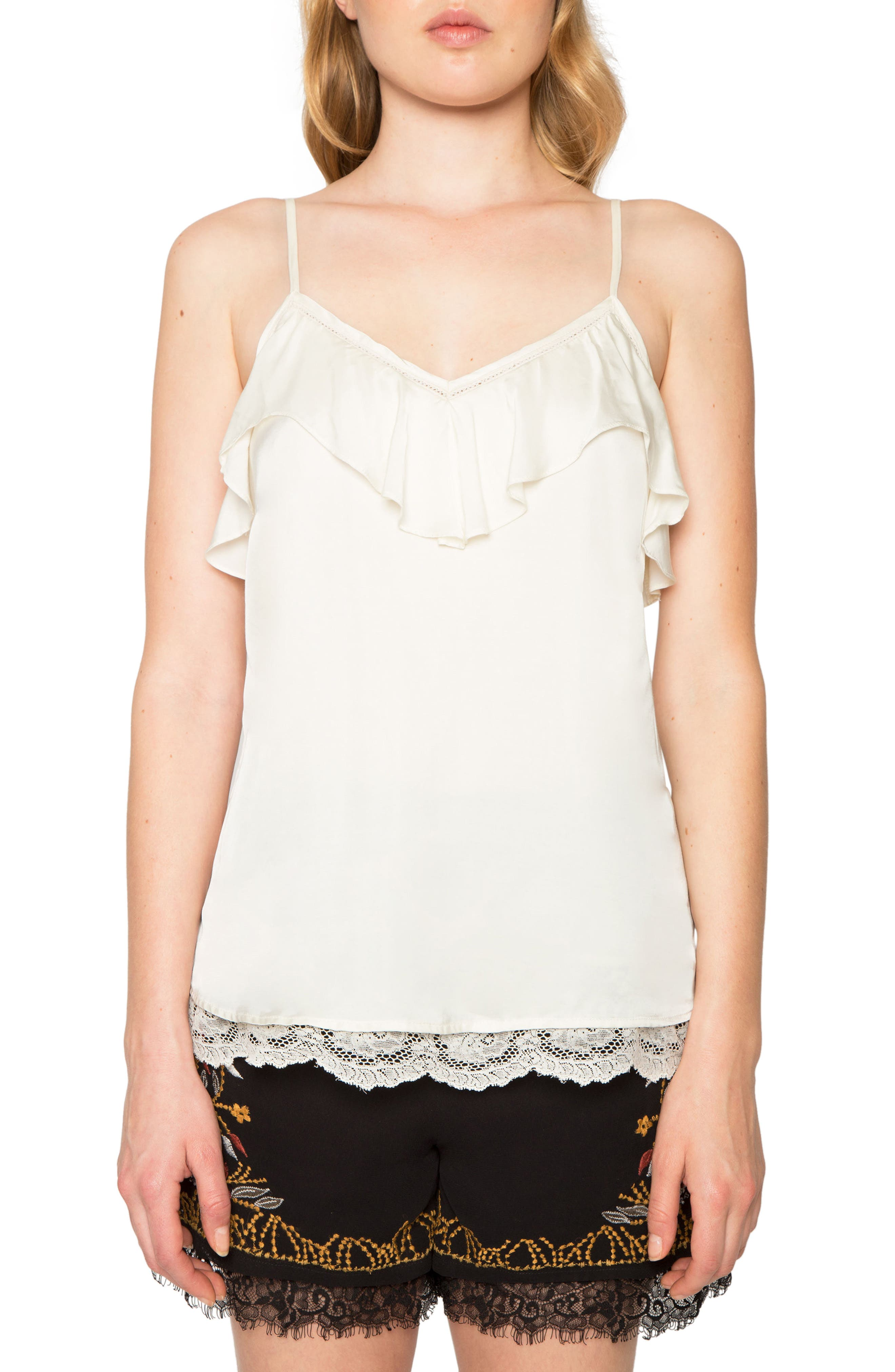 Alternate Image 1 Selected - Willow & Clay Ruffle Camisole