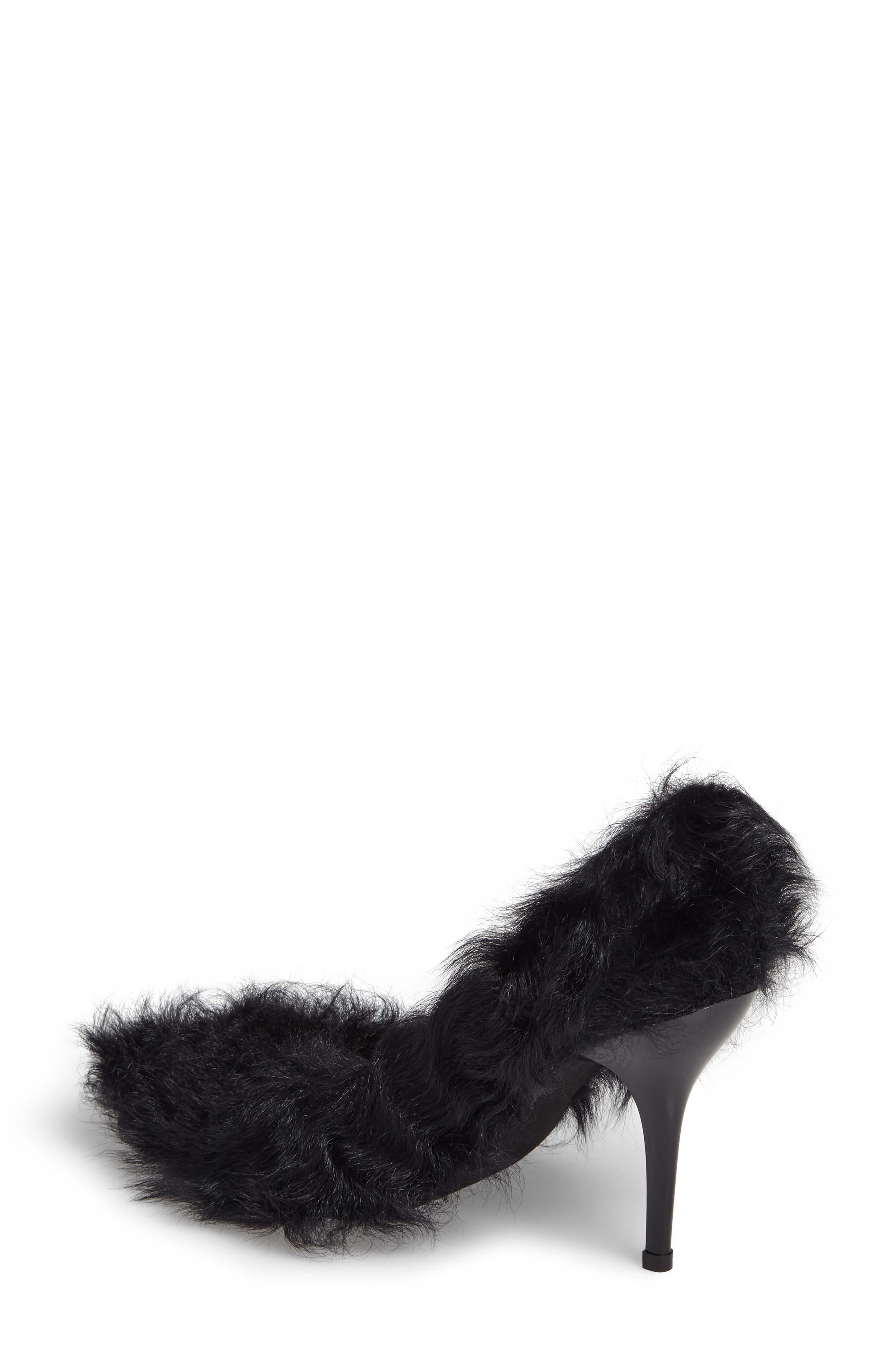 Ikon Genuine Shearling Pump,                             Alternate thumbnail 2, color,                             Black