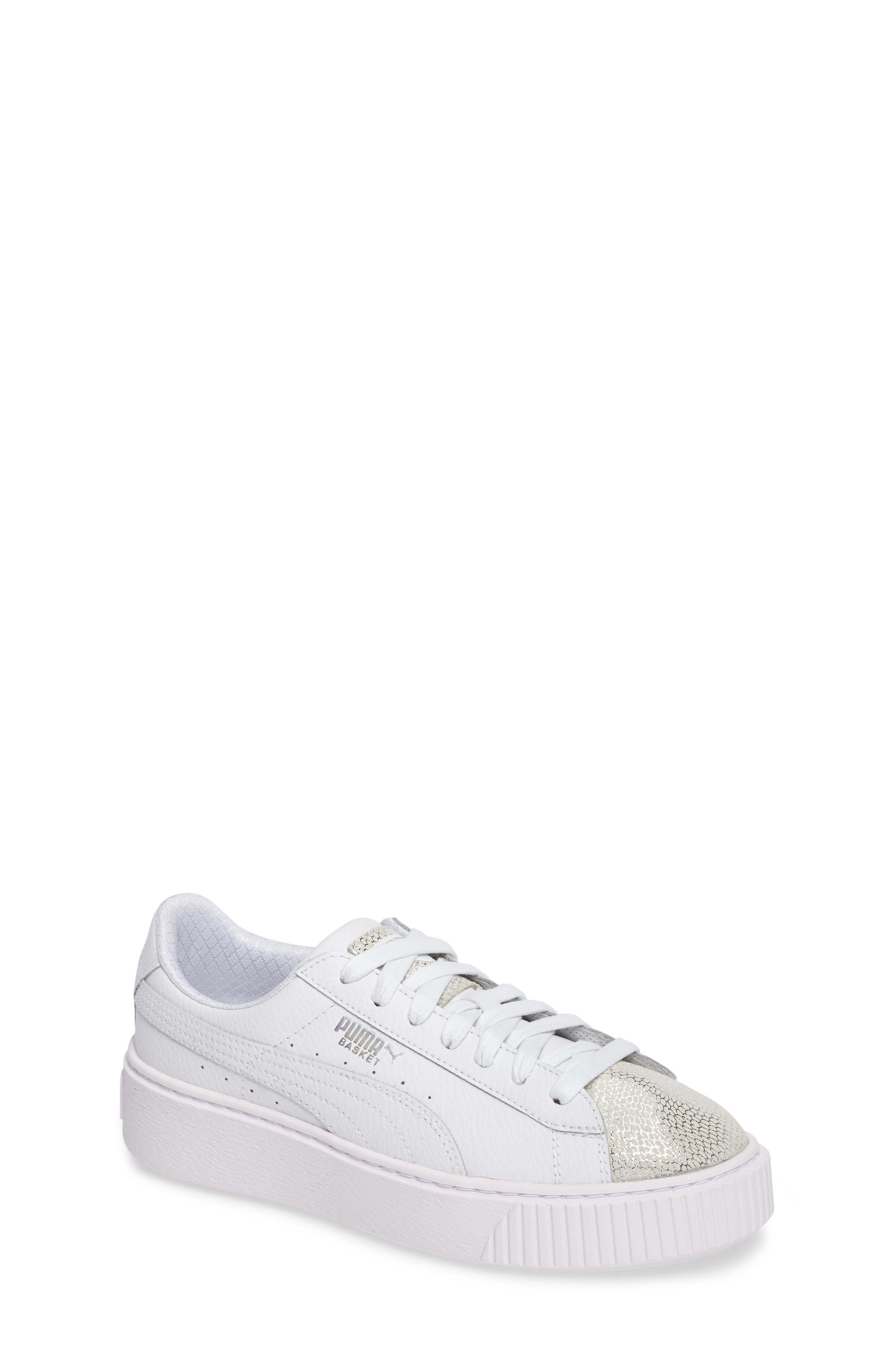 PUMA Basket Glitz Platform Sneaker