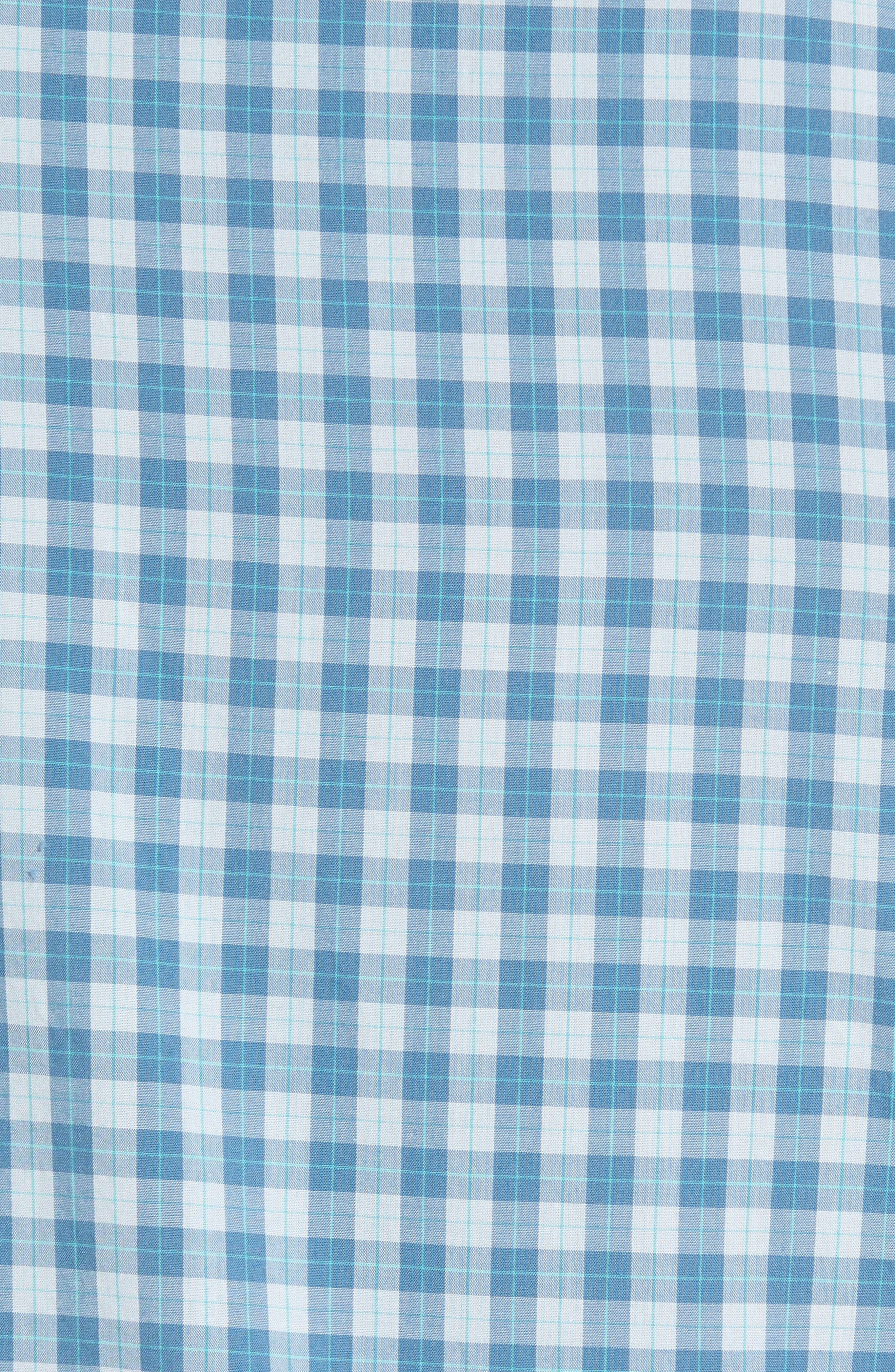 Summerweight Slim Fit Check Sport Shirt,                             Alternate thumbnail 4, color,                             Airway Check