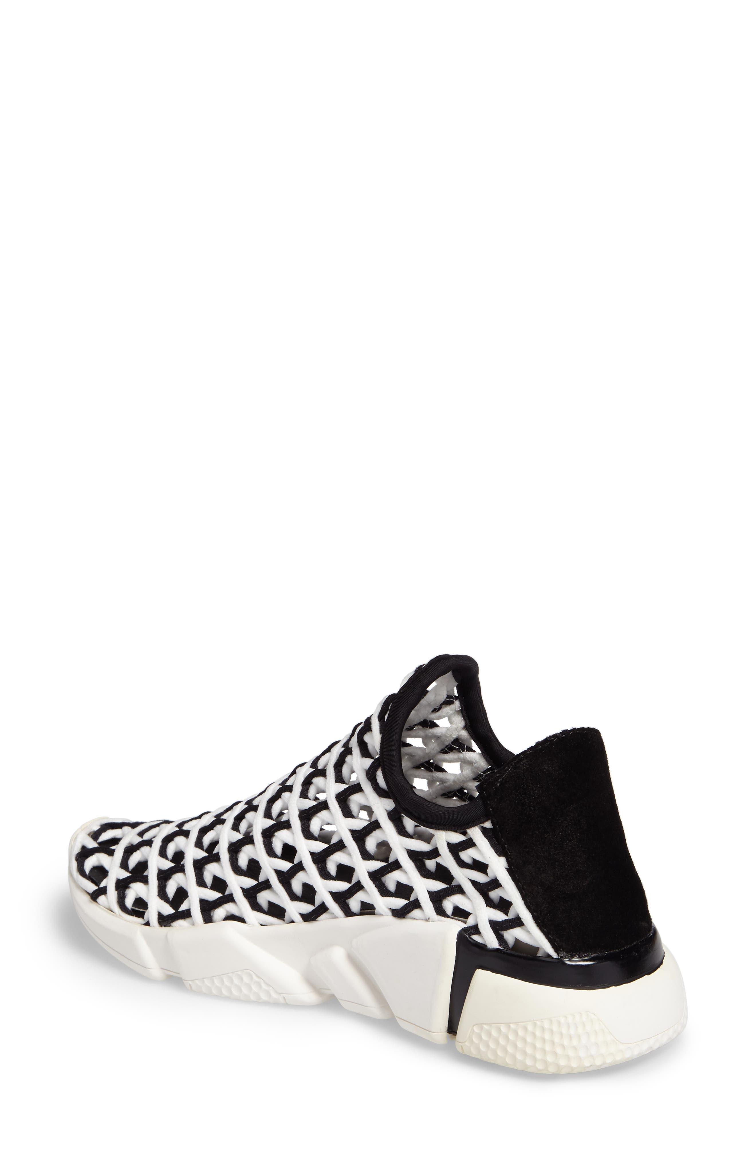 Slip-On Sneaker,                             Alternate thumbnail 2, color,                             White Black White