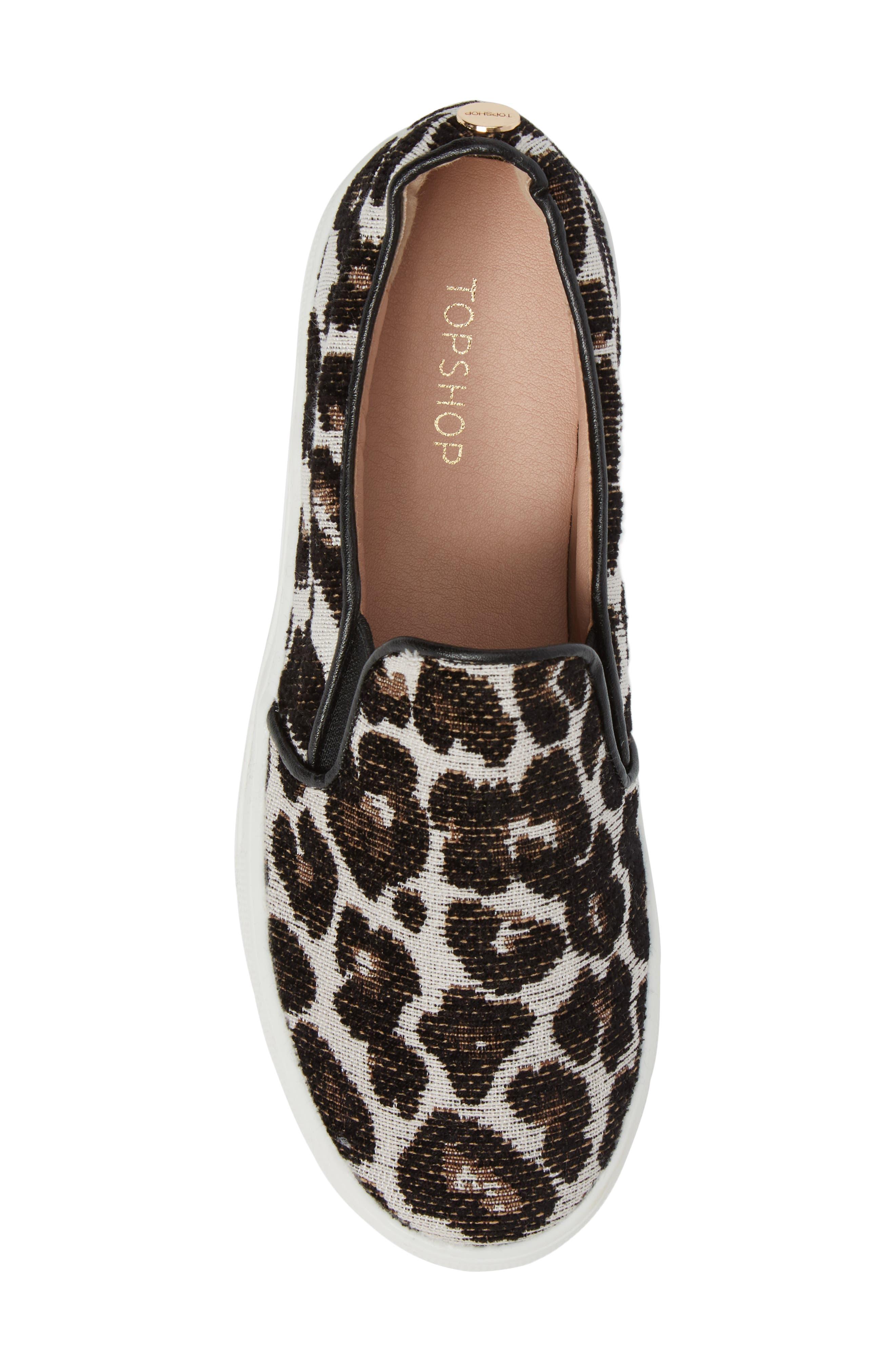 Alternate Image 5  - Topshop Tucker Leopard Print Slip-On Sneaker (Women)
