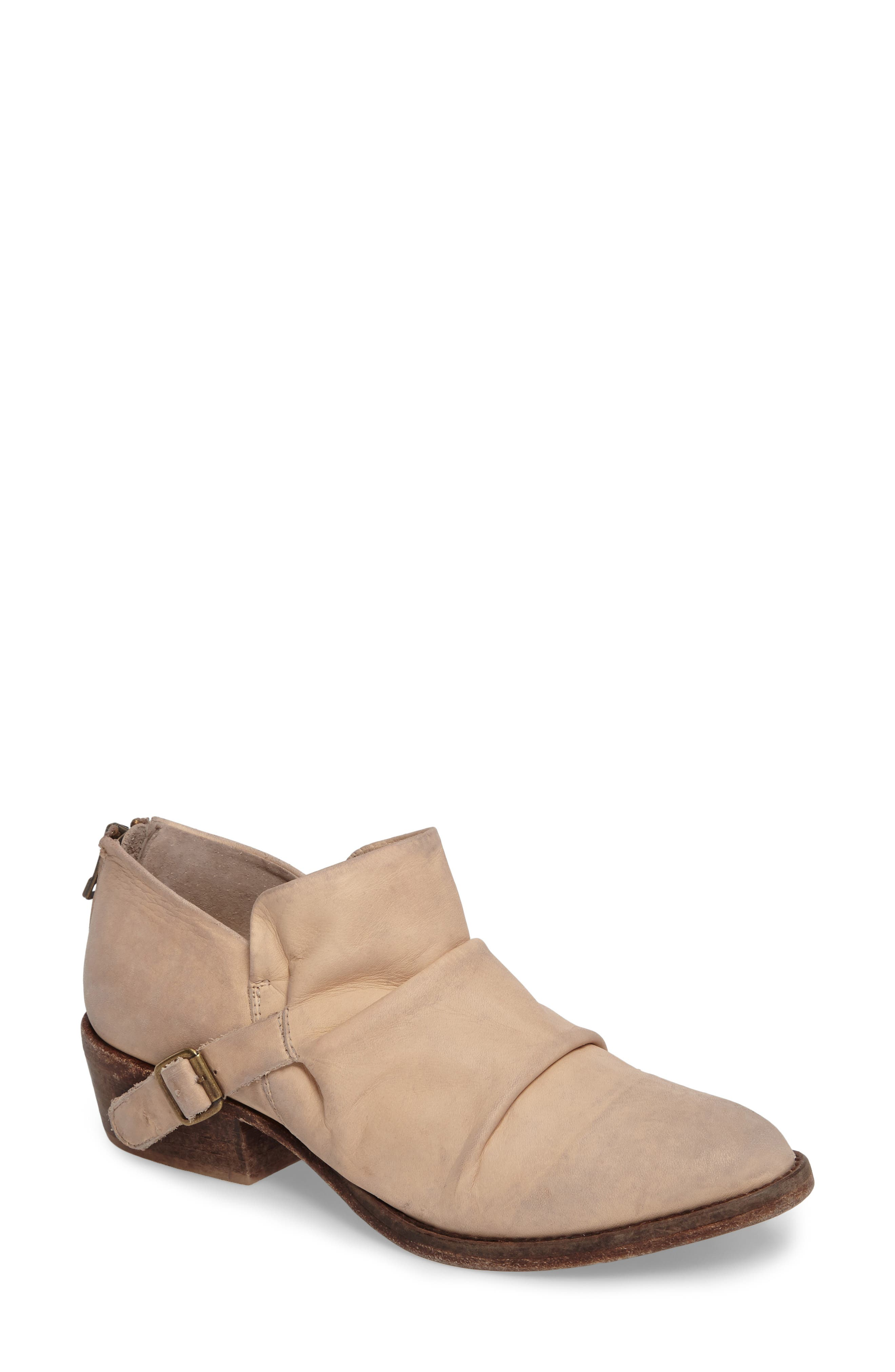 Wills Ruched Bootie,                             Main thumbnail 1, color,                             Ivory Leather