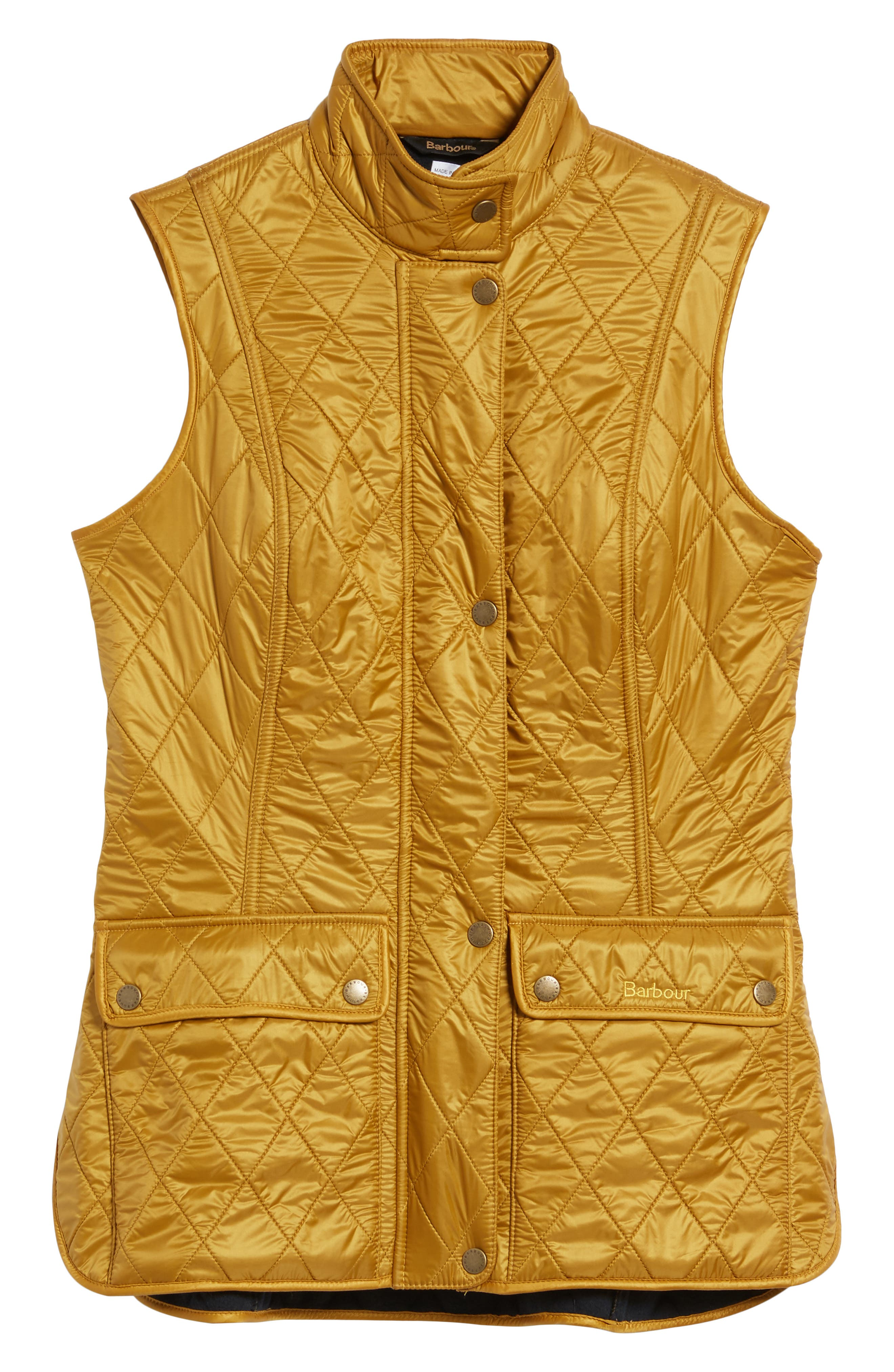 Wray Water Resistant Quilted Gilet,                             Alternate thumbnail 7, color,                             Harvest Gold