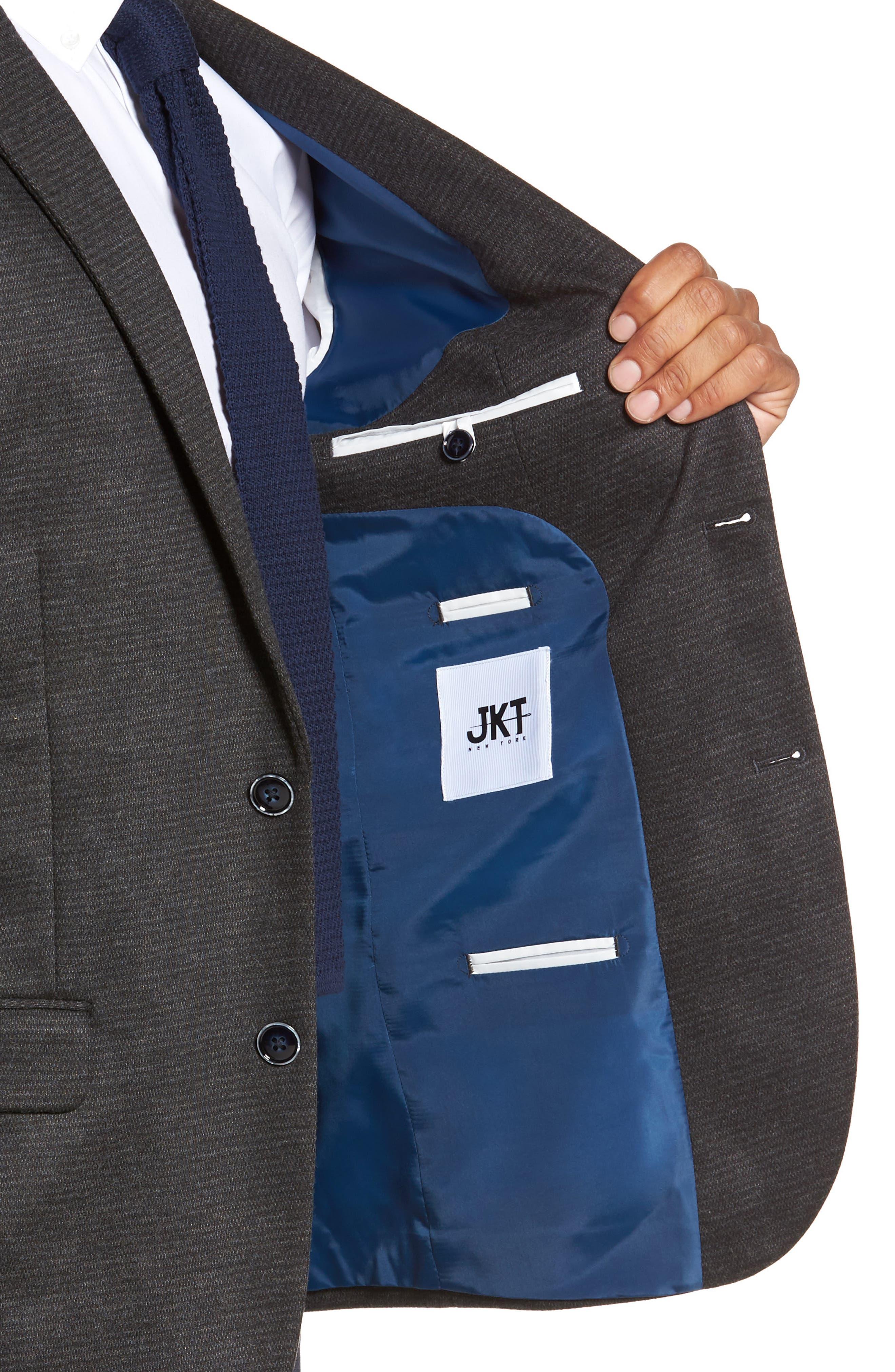 Alternate Image 4  - JKT New York Trim Fit Solid Sport Coat