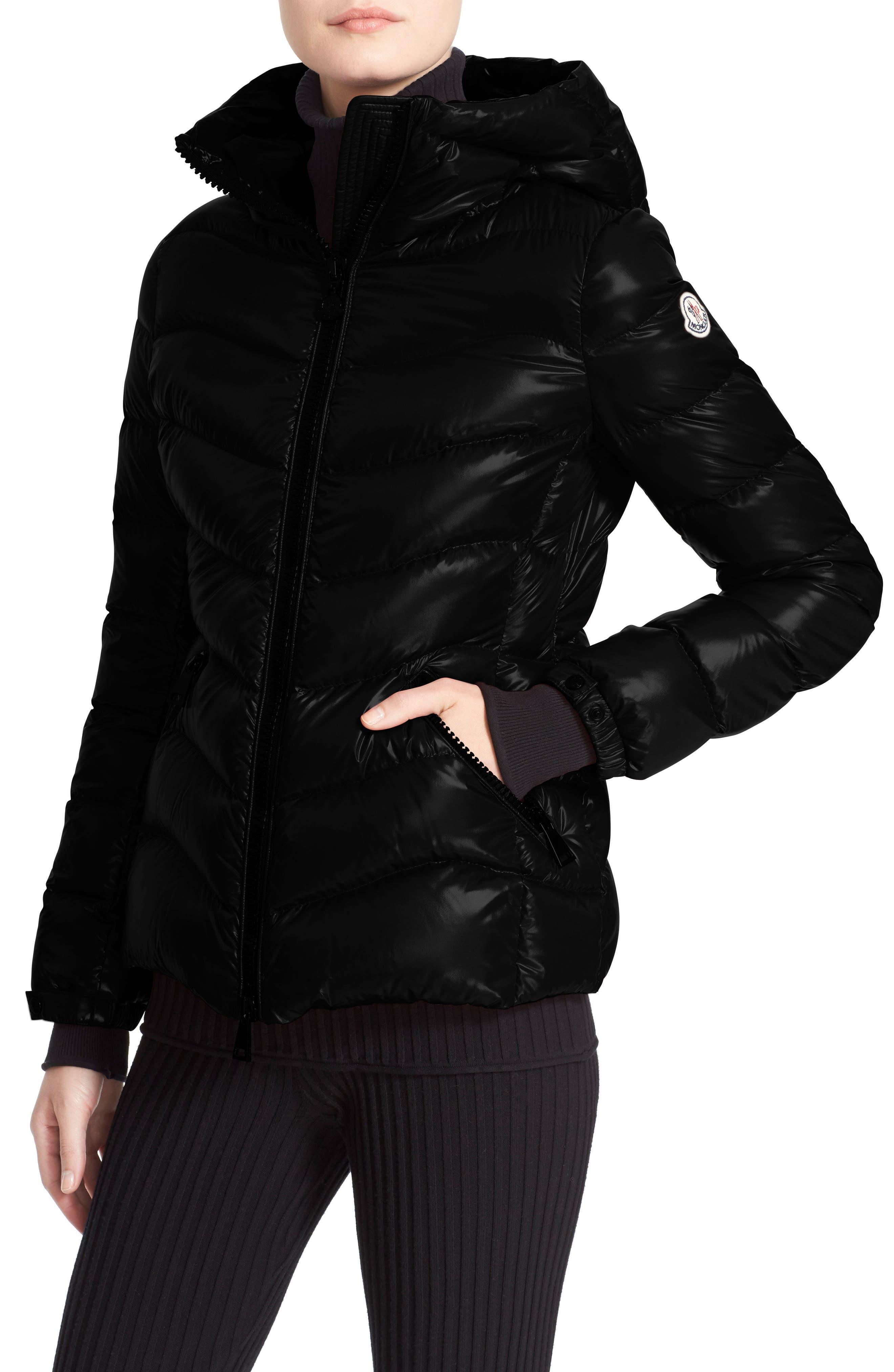 Alternate Image 6  - Moncler Anthia Water Resistant Shiny Nylon Hooded Down Puffer Jacket