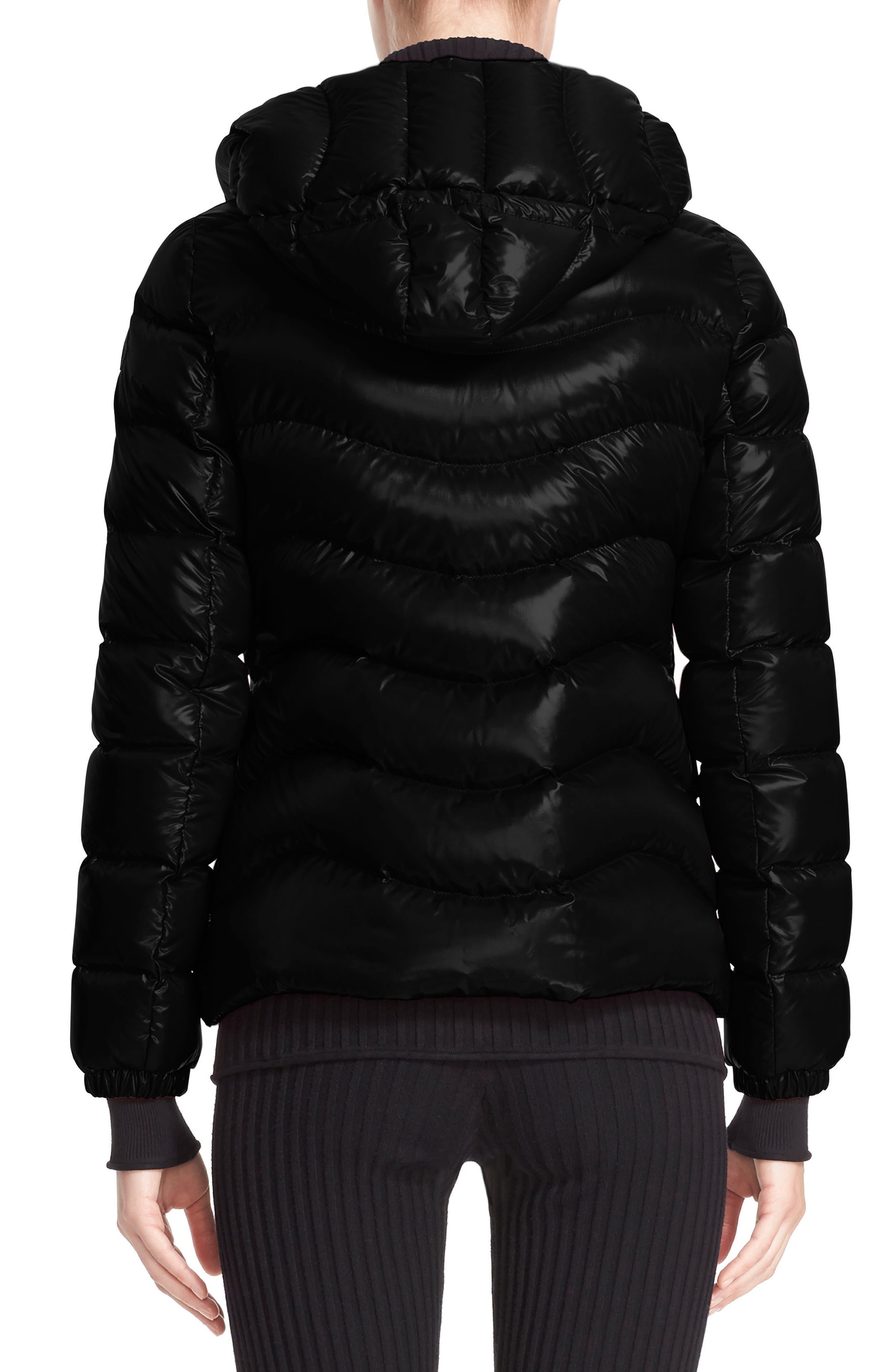 Alternate Image 2  - Moncler Anthia Water Resistant Shiny Nylon Hooded Down Puffer Jacket