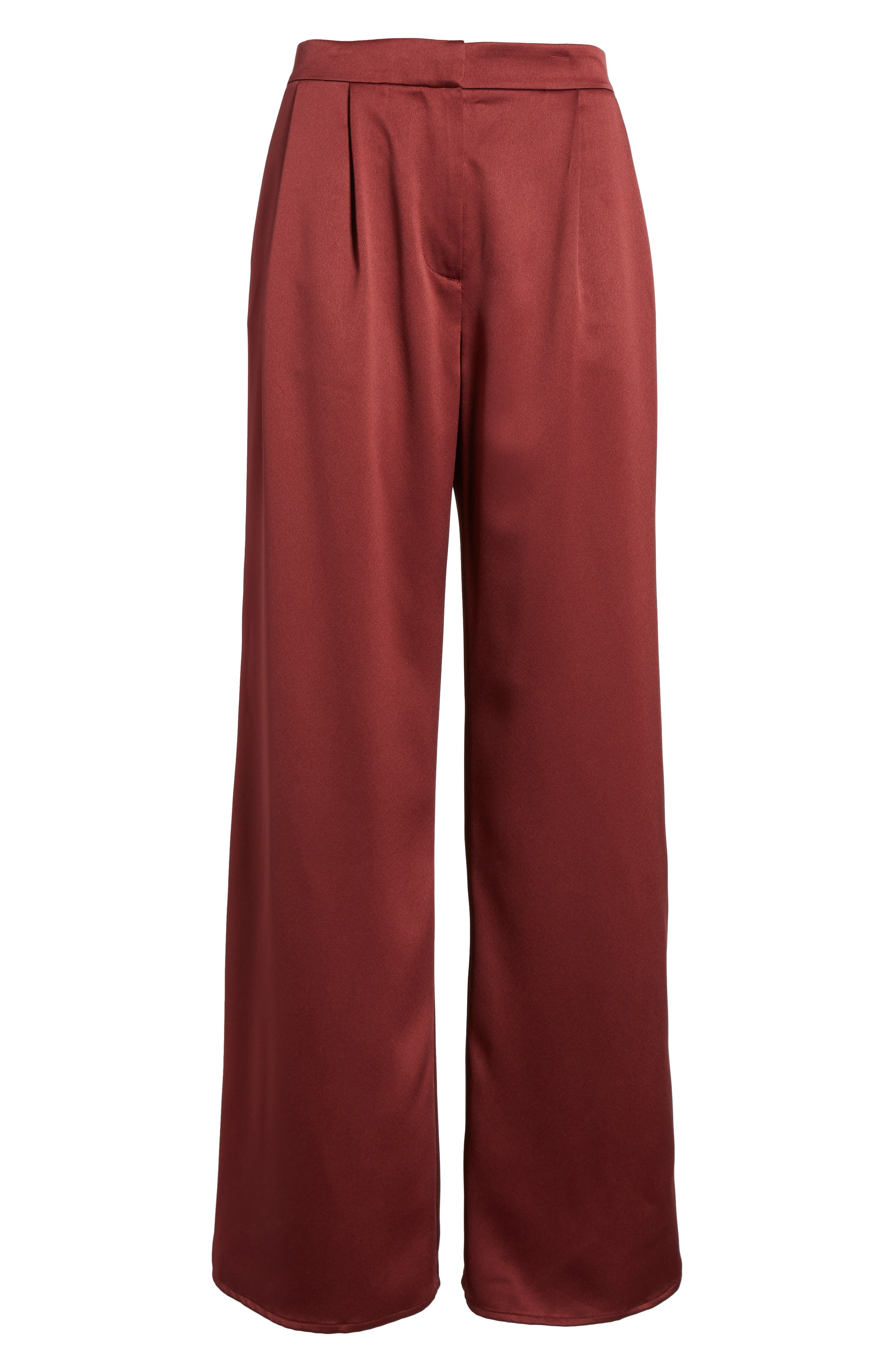 Alternate Image 6  - Leith Wide Leg Satin Trousers