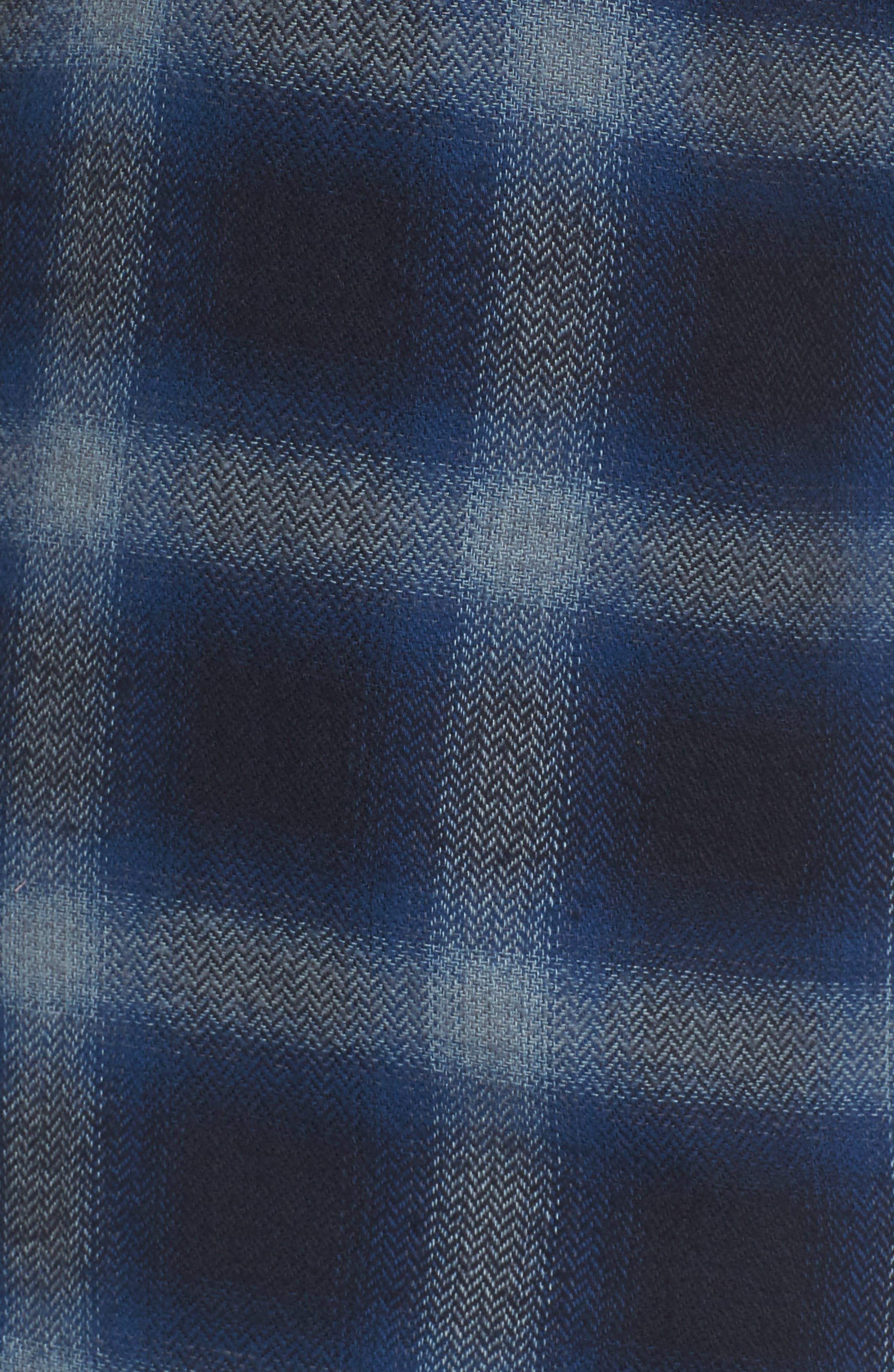 Truman Outdoor Check Sport Shirt,                             Alternate thumbnail 5, color,                             Navy/ Blue
