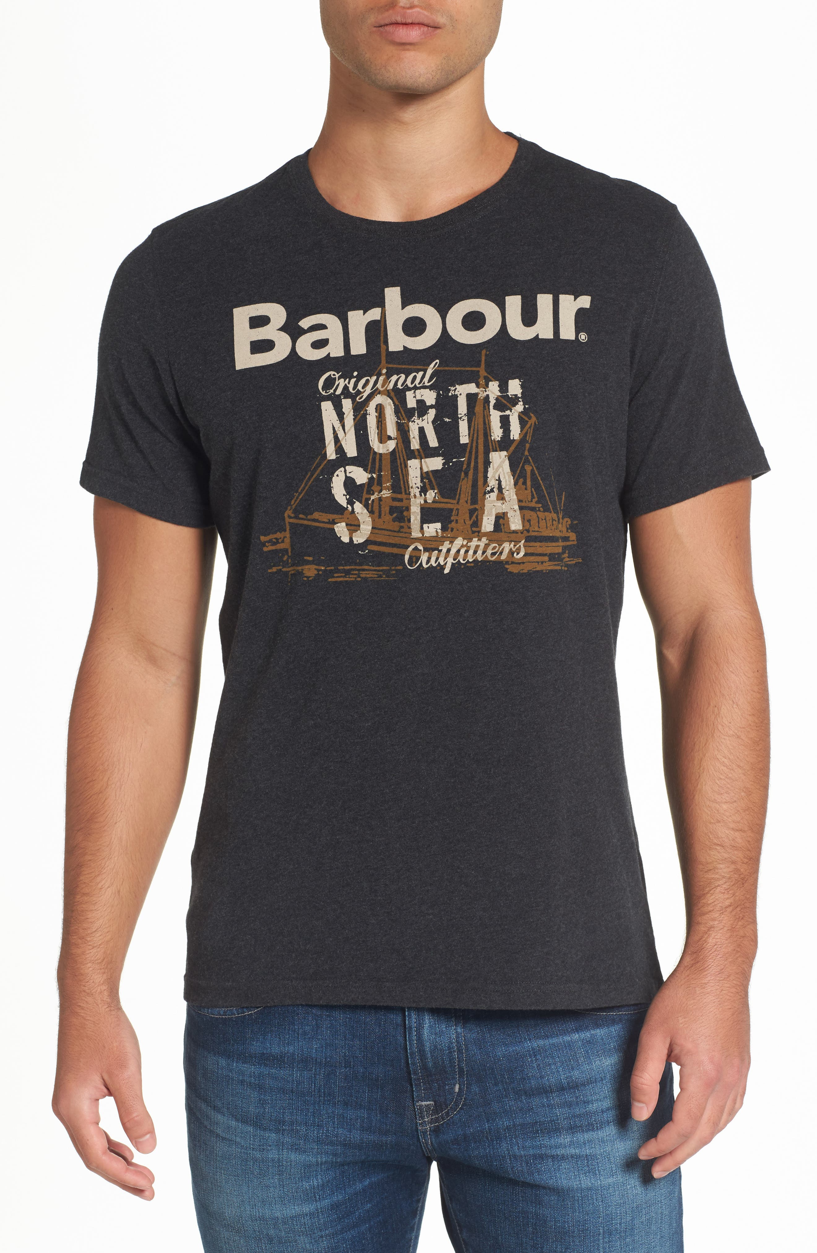 Barbour Blade Slim Fit Logo Graphic T-Shirt
